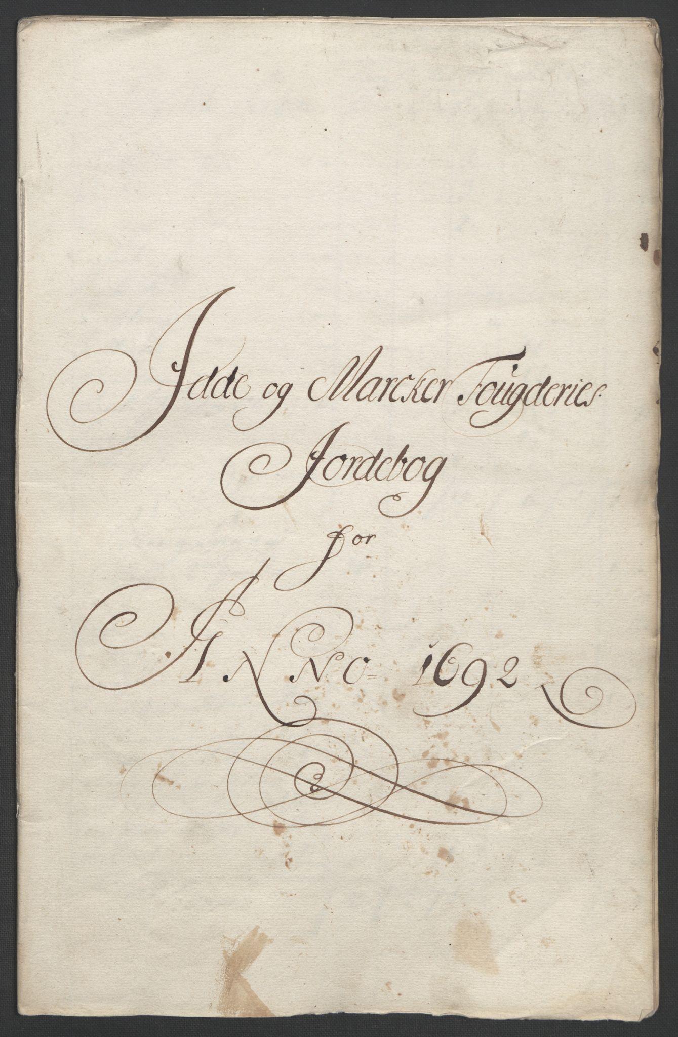 RA, Rentekammeret inntil 1814, Reviderte regnskaper, Fogderegnskap, R01/L0011: Fogderegnskap Idd og Marker, 1692-1693, s. 22