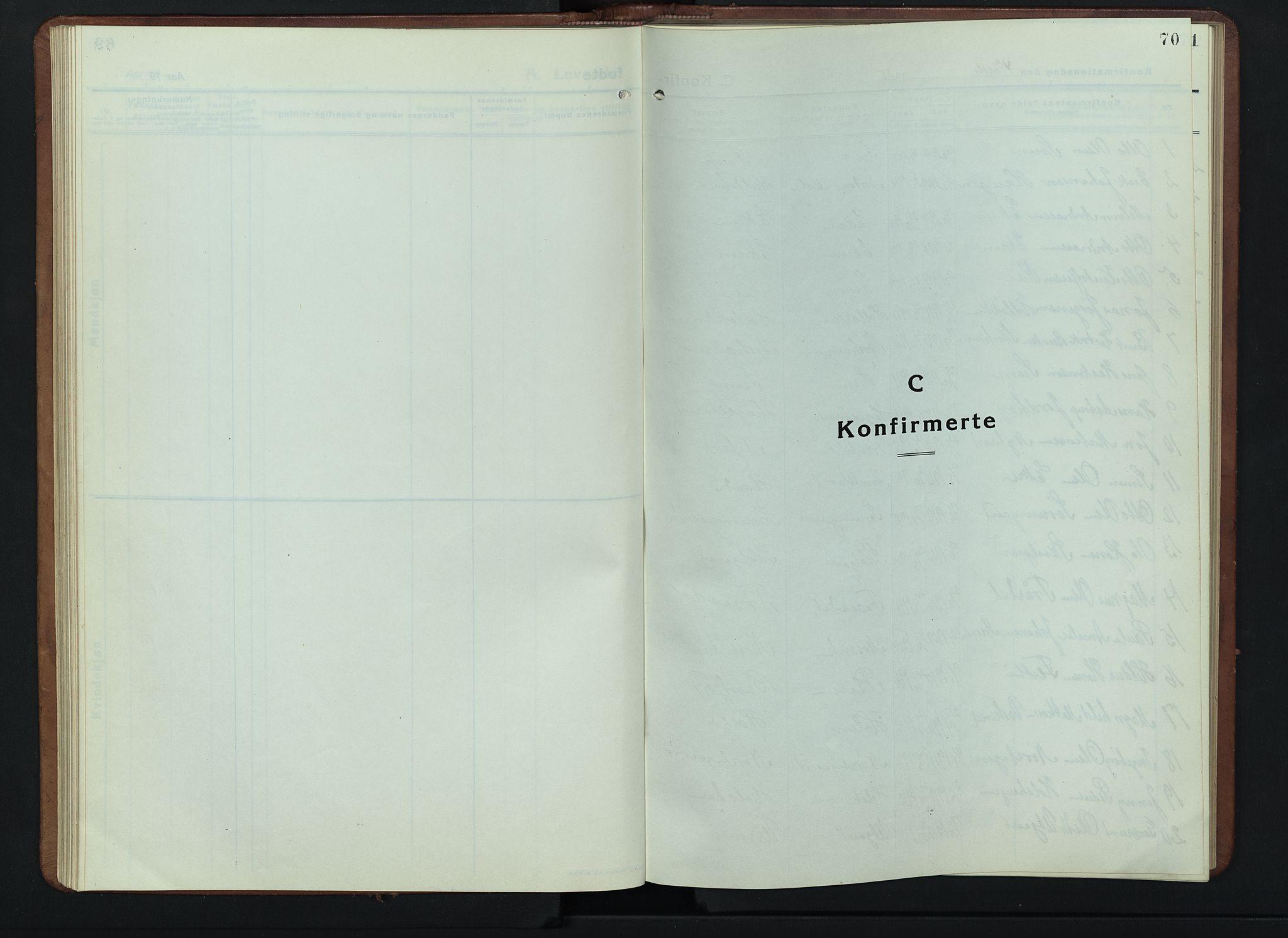 SAH, Lesja prestekontor, Klokkerbok nr. 9, 1924-1947, s. 70