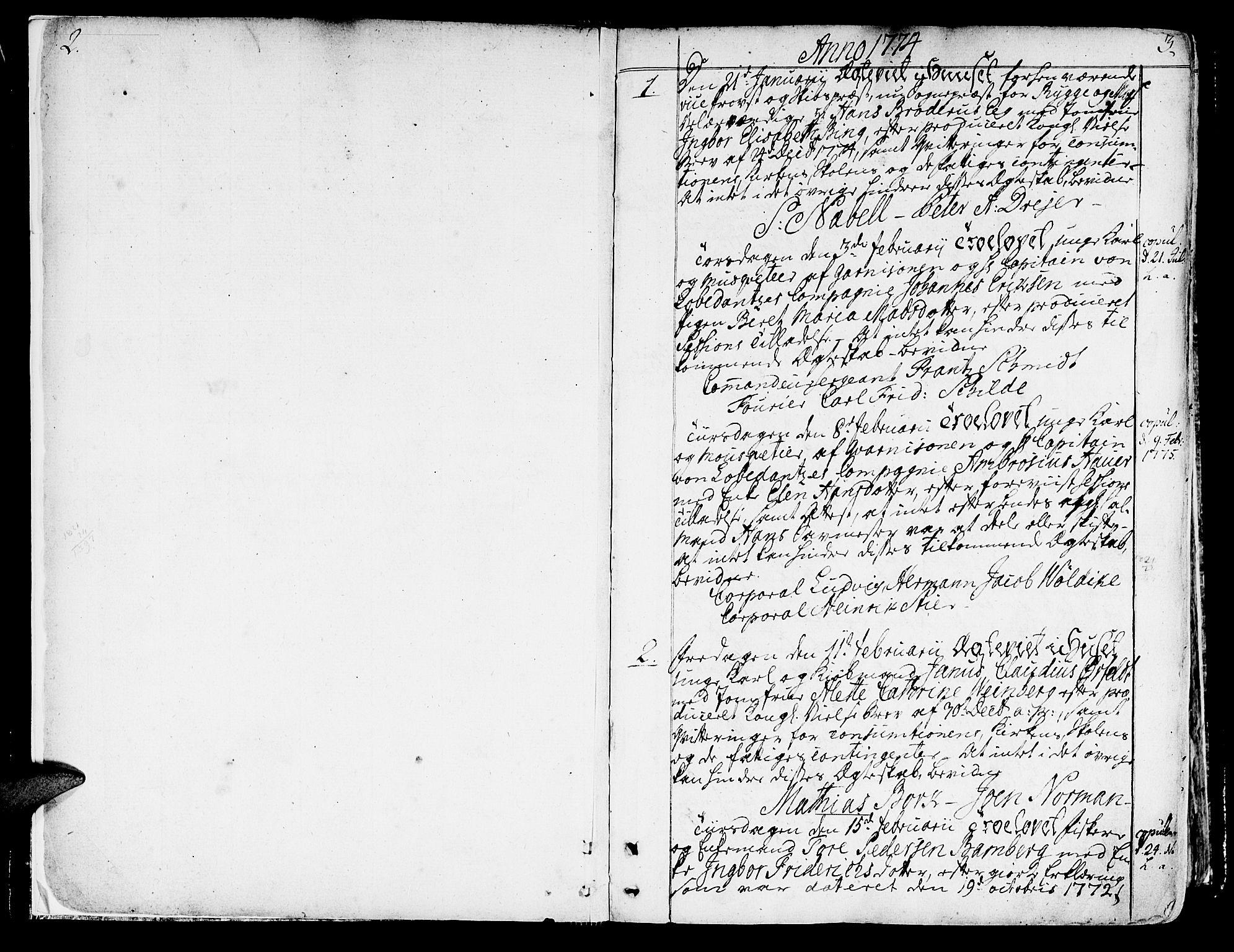 SAT, Ministerialprotokoller, klokkerbøker og fødselsregistre - Sør-Trøndelag, 602/L0105: Ministerialbok nr. 602A03, 1774-1814, s. 2-3