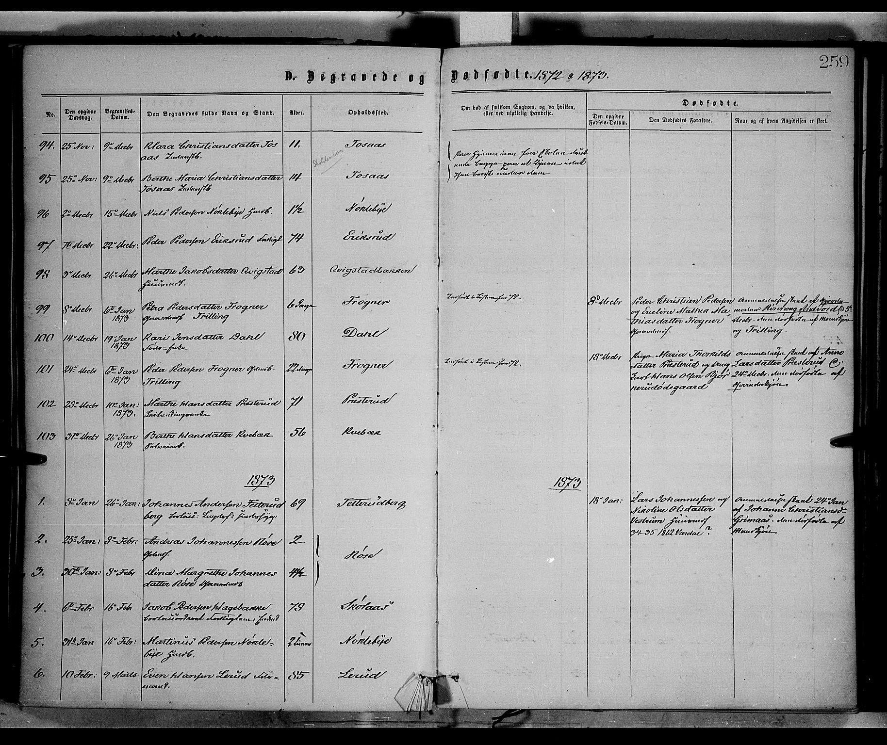 SAH, Vestre Toten prestekontor, Ministerialbok nr. 8, 1870-1877, s. 259