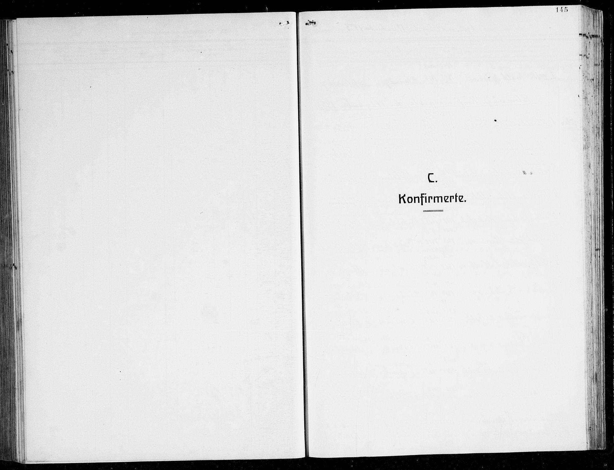 SAB, Herdla Sokneprestembete, H/Hab: Klokkerbok nr. C 3, 1926-1940, s. 145