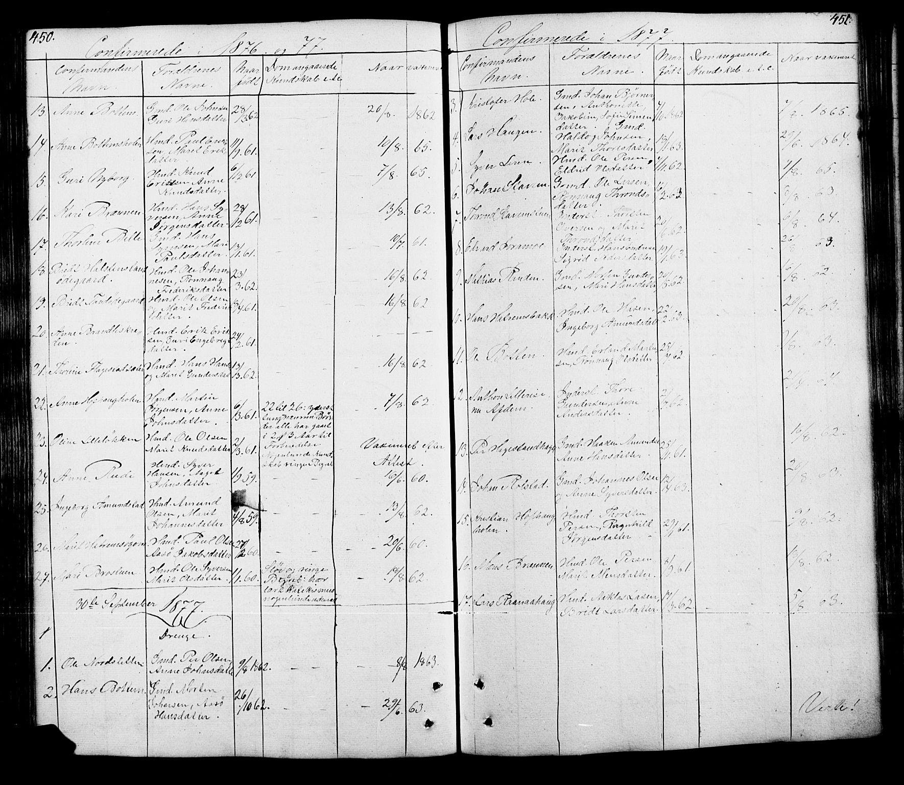 SAH, Lesja prestekontor, Klokkerbok nr. 5, 1850-1894, s. 450-451