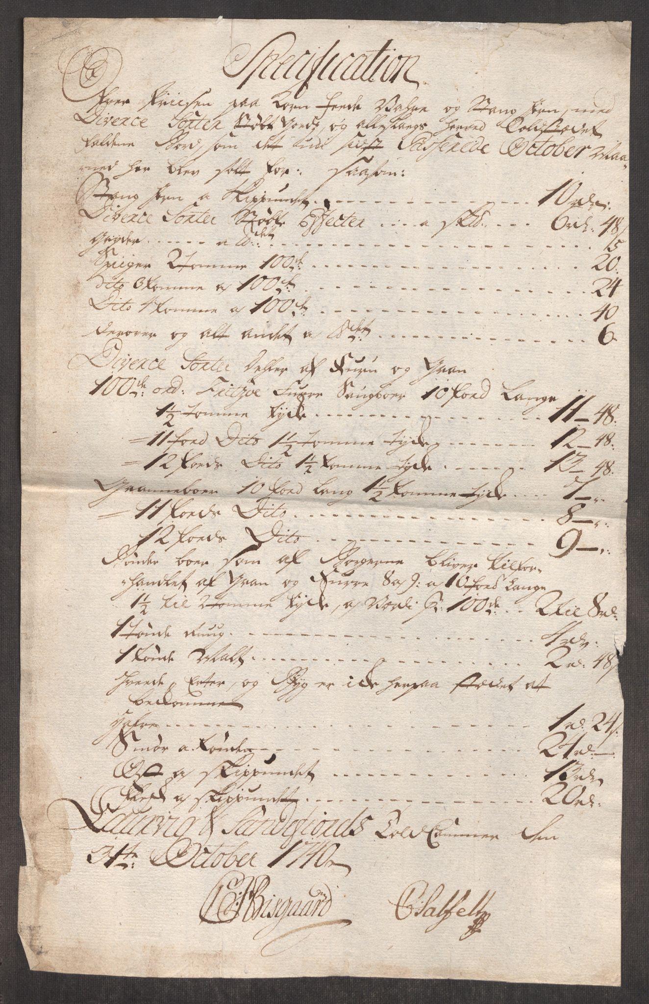 RA, Rentekammeret inntil 1814, Realistisk ordnet avdeling, Oe/L0002: [Ø1]: Priskuranter, 1740-1744, s. 95