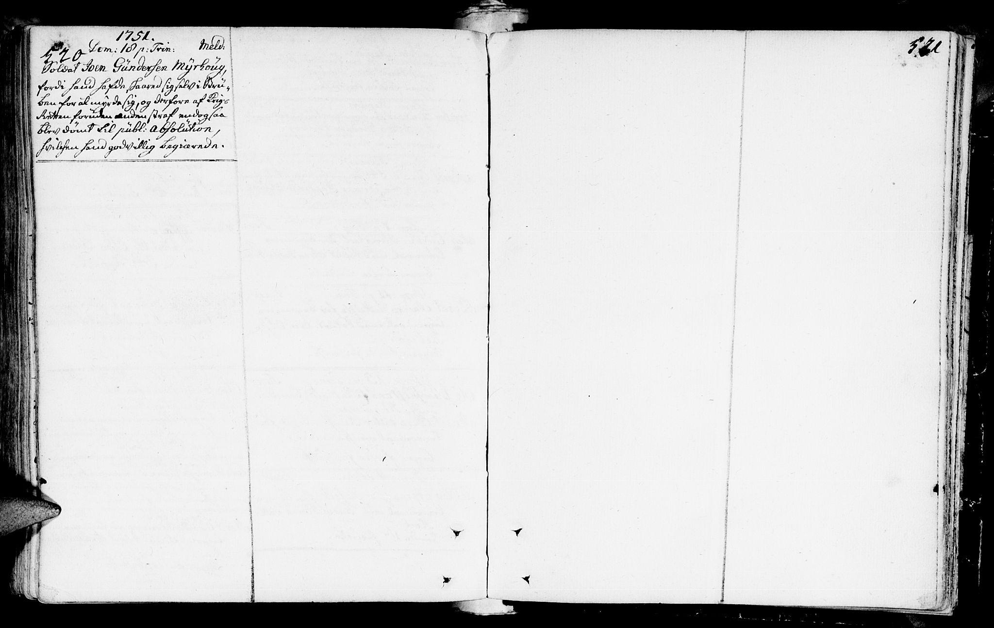 SAT, Ministerialprotokoller, klokkerbøker og fødselsregistre - Sør-Trøndelag, 672/L0850: Ministerialbok nr. 672A03, 1725-1751, s. 520-521