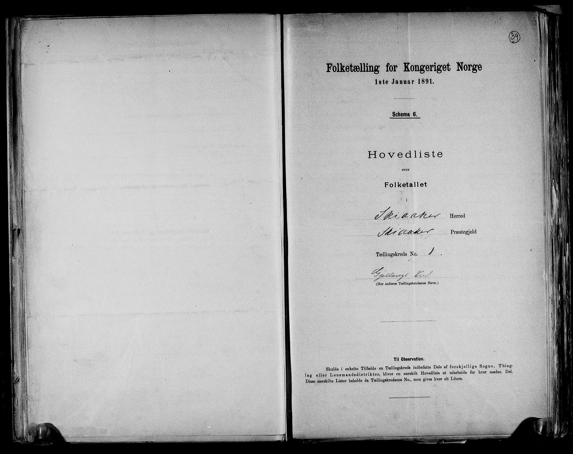 RA, Folketelling 1891 for 0513 Skjåk herred, 1891, s. 4