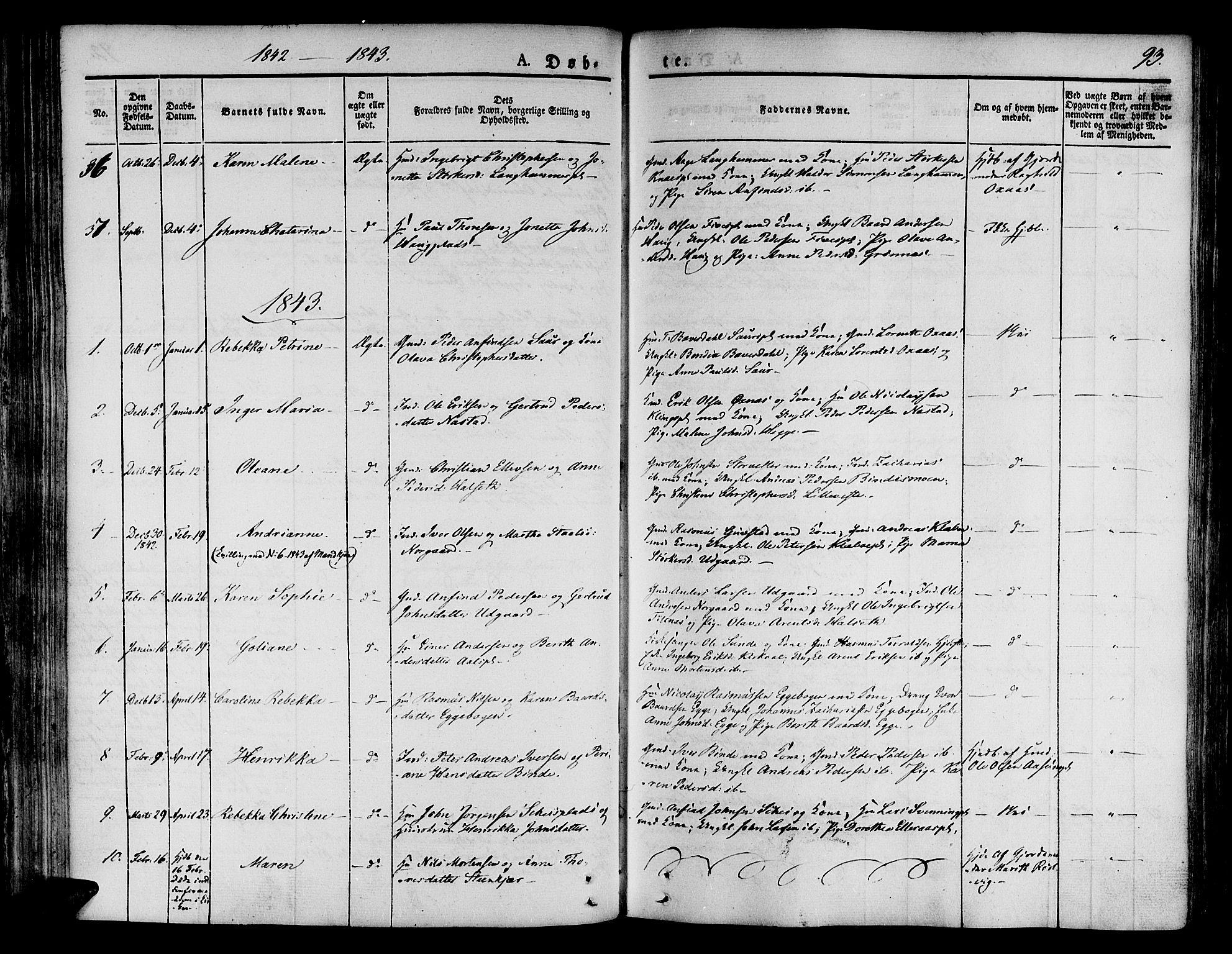 SAT, Ministerialprotokoller, klokkerbøker og fødselsregistre - Nord-Trøndelag, 746/L0445: Ministerialbok nr. 746A04, 1826-1846, s. 93