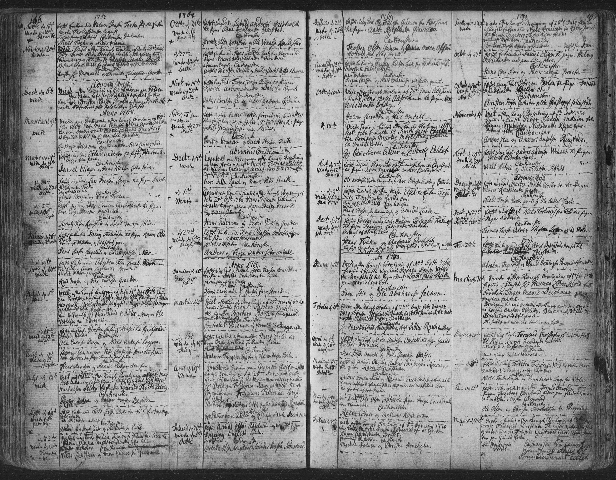 SAKO, Solum kirkebøker, F/Fa/L0003: Ministerialbok nr. I 3, 1761-1814, s. 196-197