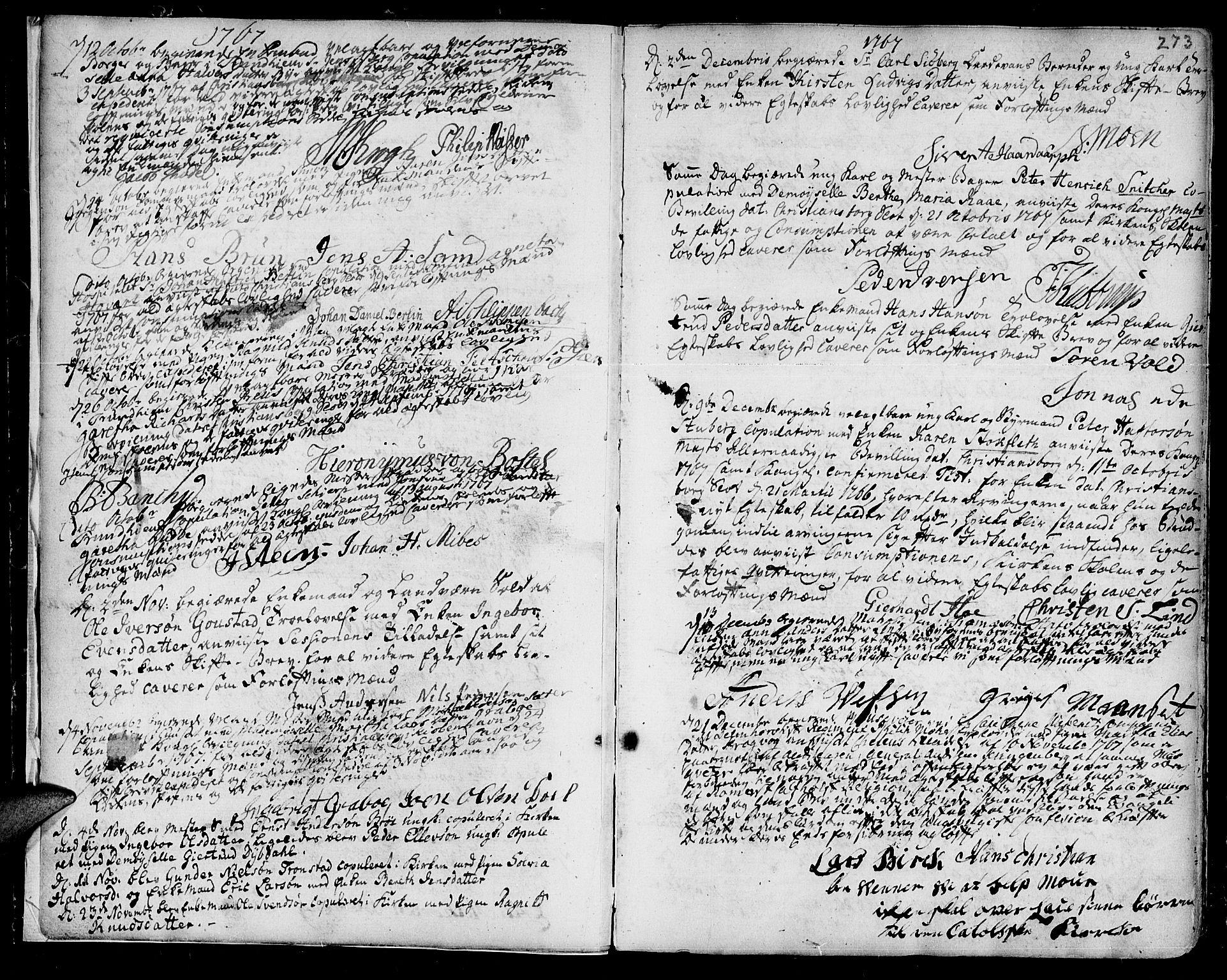 SAT, Ministerialprotokoller, klokkerbøker og fødselsregistre - Sør-Trøndelag, 601/L0038: Ministerialbok nr. 601A06, 1766-1877, s. 273