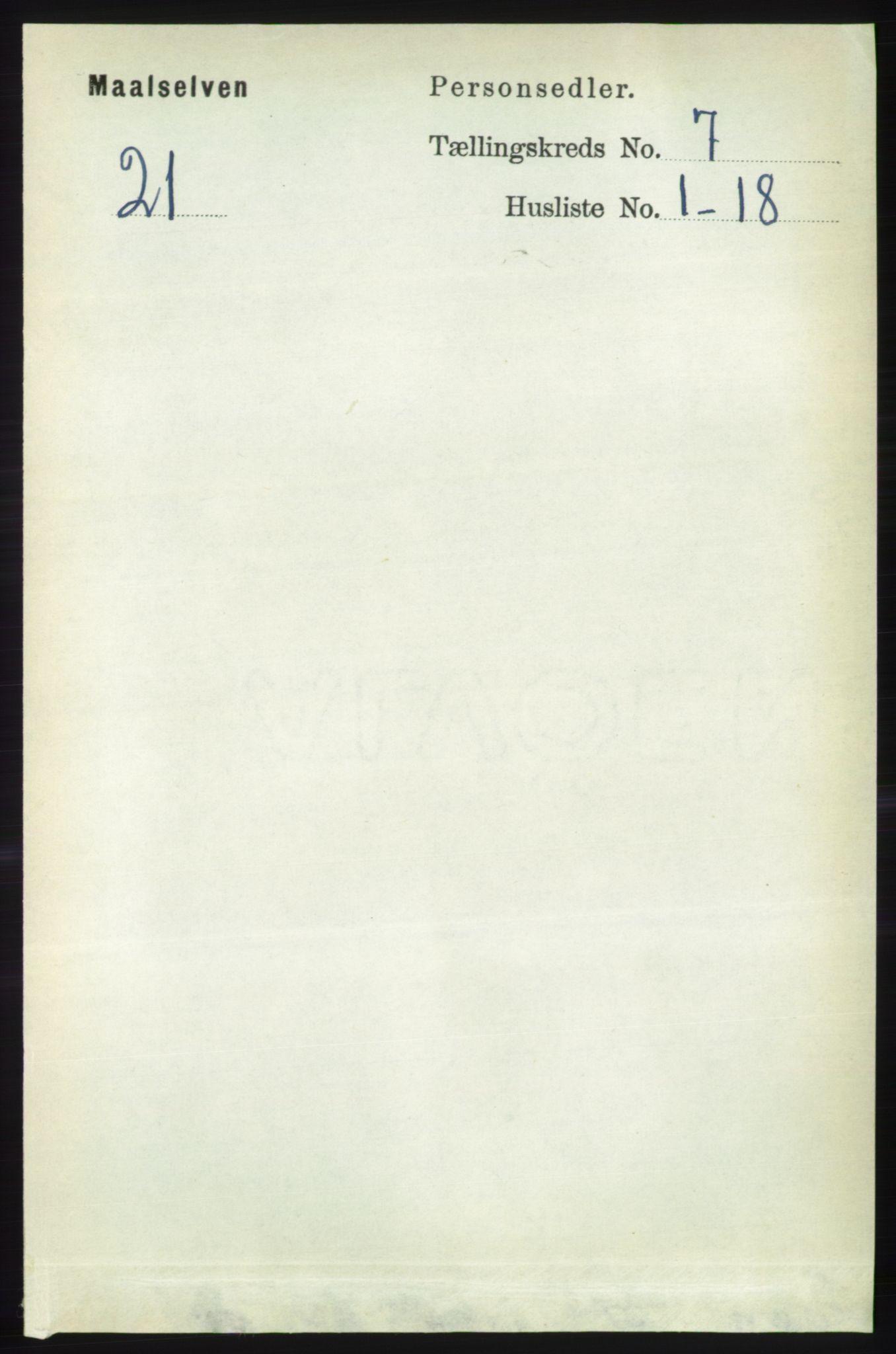 RA, Folketelling 1891 for 1924 Målselv herred, 1891, s. 2212