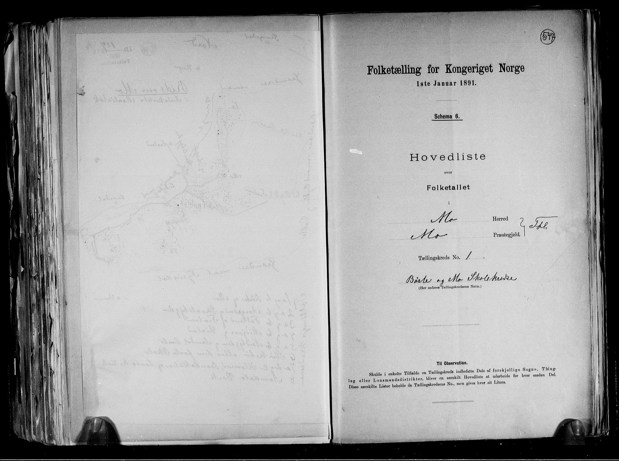RA, Folketelling 1891 for 0832 Mo herred, 1891, s. 5