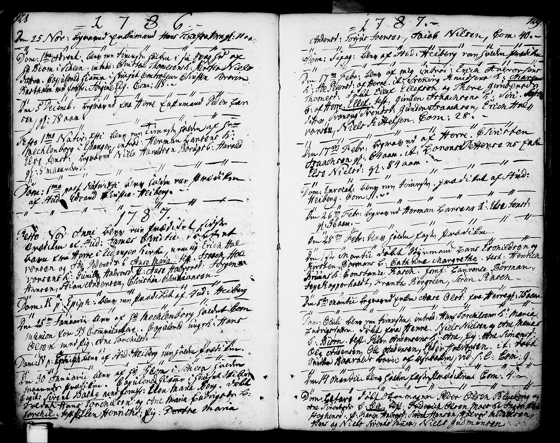 SAKO, Porsgrunn kirkebøker , F/Fa/L0002: Ministerialbok nr. 2, 1764-1814, s. 128-129