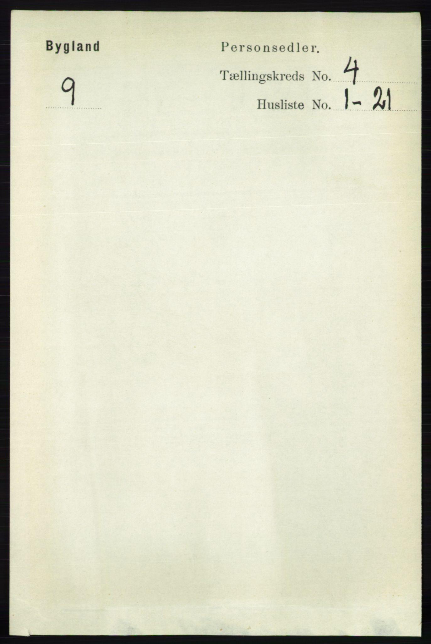 RA, Folketelling 1891 for 0938 Bygland herred, 1891, s. 851