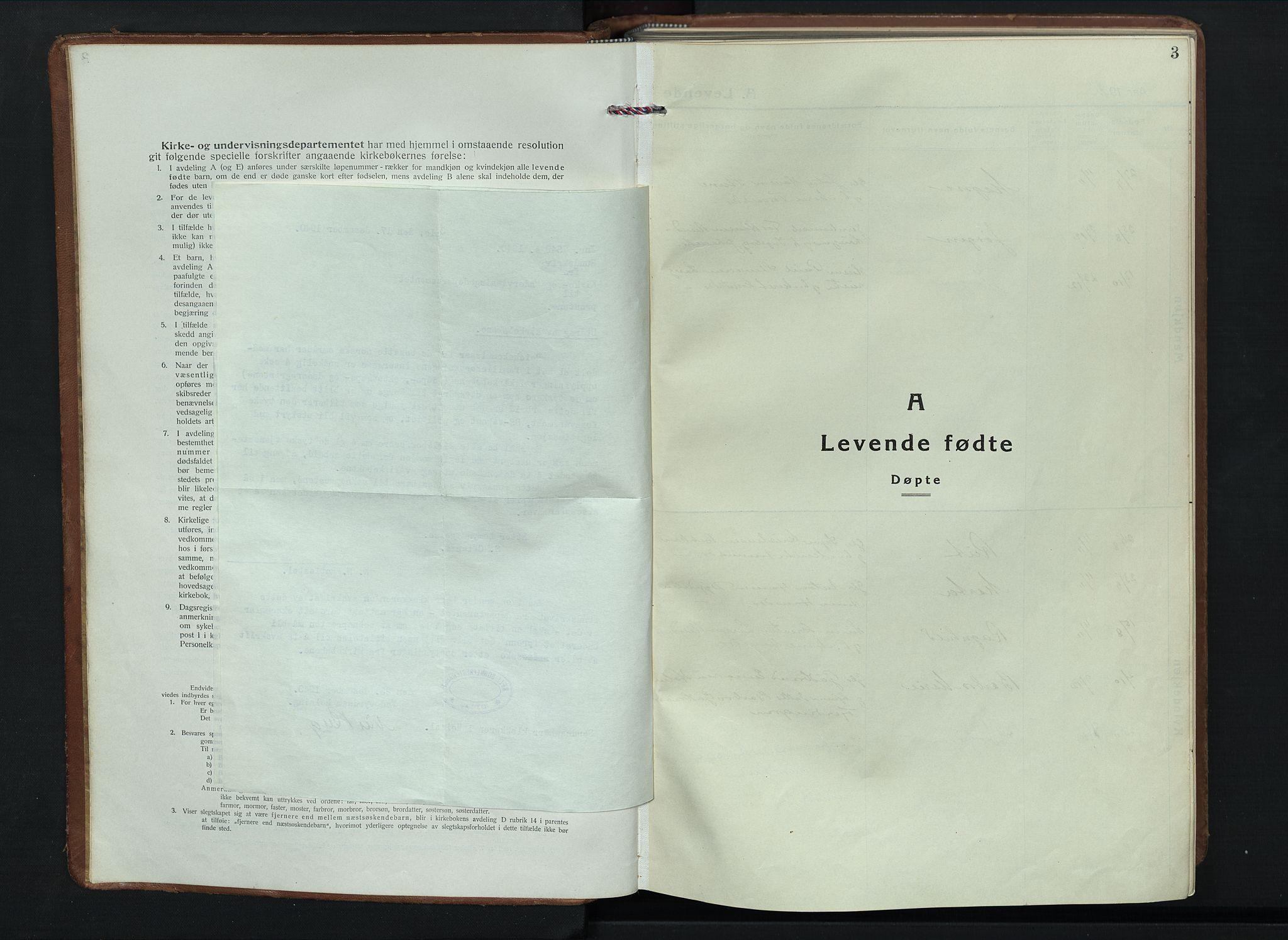 SAH, Sel prestekontor, Klokkerbok nr. 6, 1923-1953, s. 3