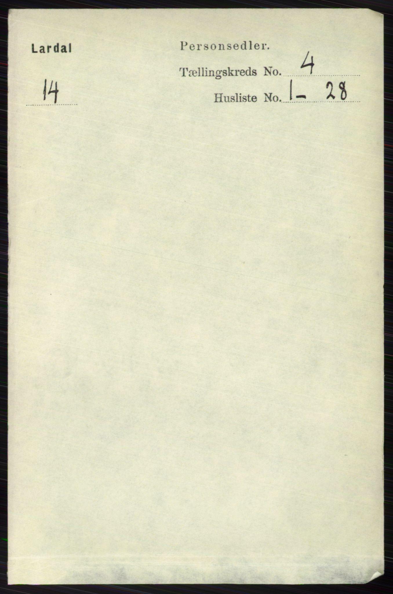 RA, Folketelling 1891 for 0728 Lardal herred, 1891, s. 1966