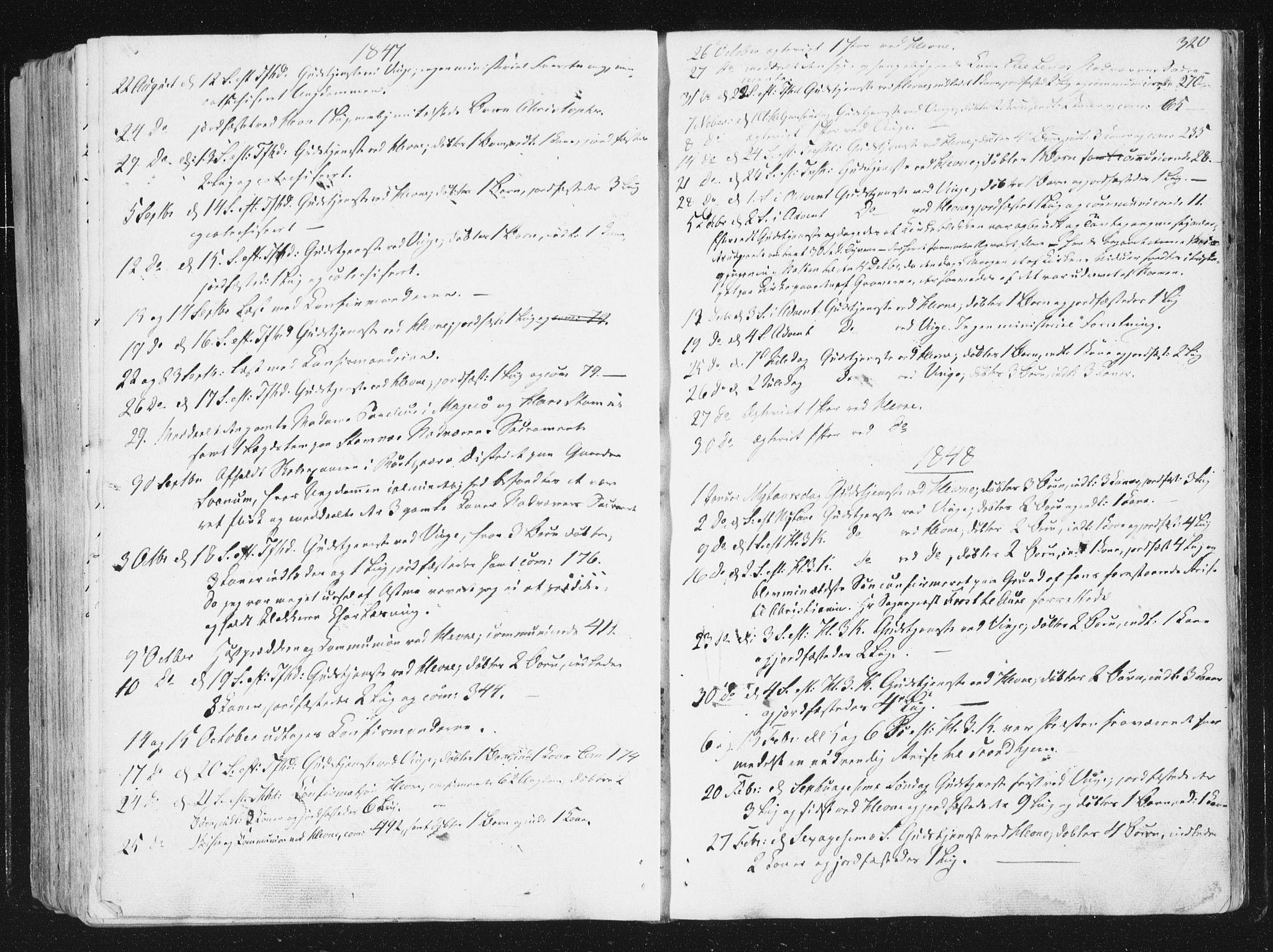SAT, Ministerialprotokoller, klokkerbøker og fødselsregistre - Sør-Trøndelag, 630/L0493: Ministerialbok nr. 630A06, 1841-1851, s. 320