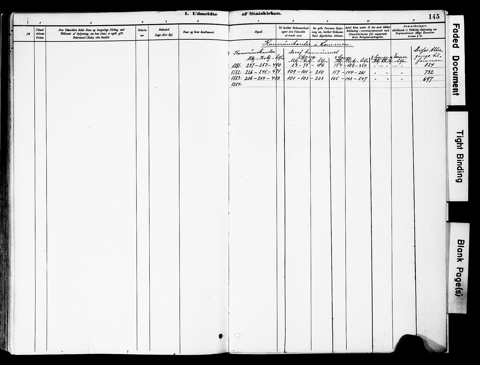 SAH, Vestre Slidre prestekontor, Ministerialbok nr. 5, 1881-1912, s. 145