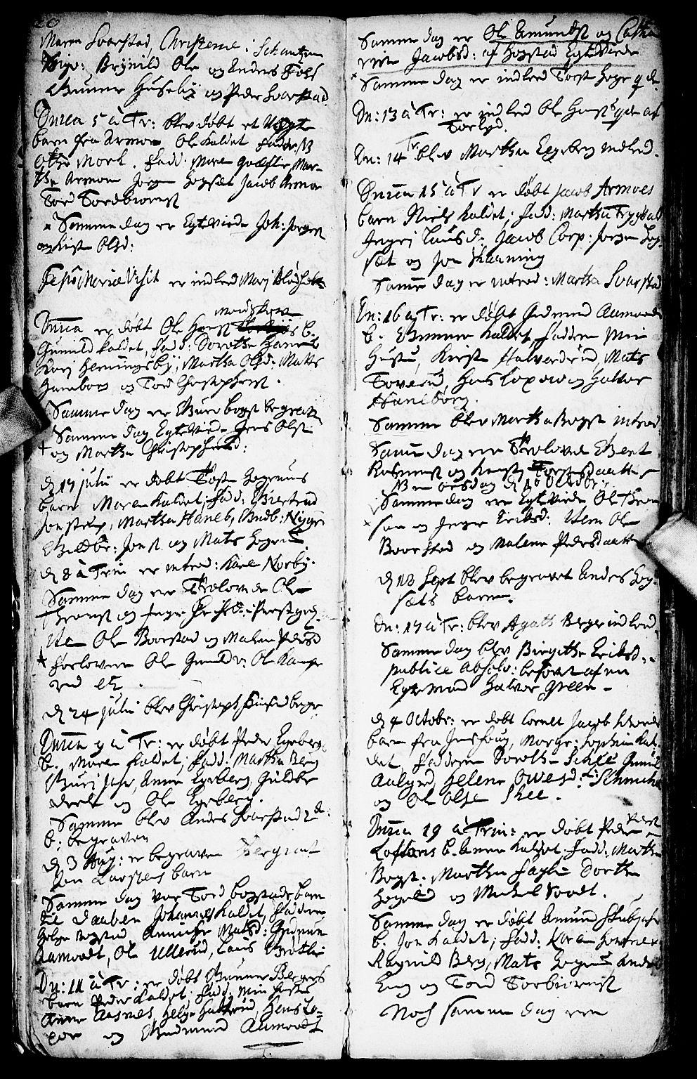 SAO, Aurskog prestekontor Kirkebøker, F/Fa/L0001: Ministerialbok nr. I 1, 1707-1735, s. 20-21