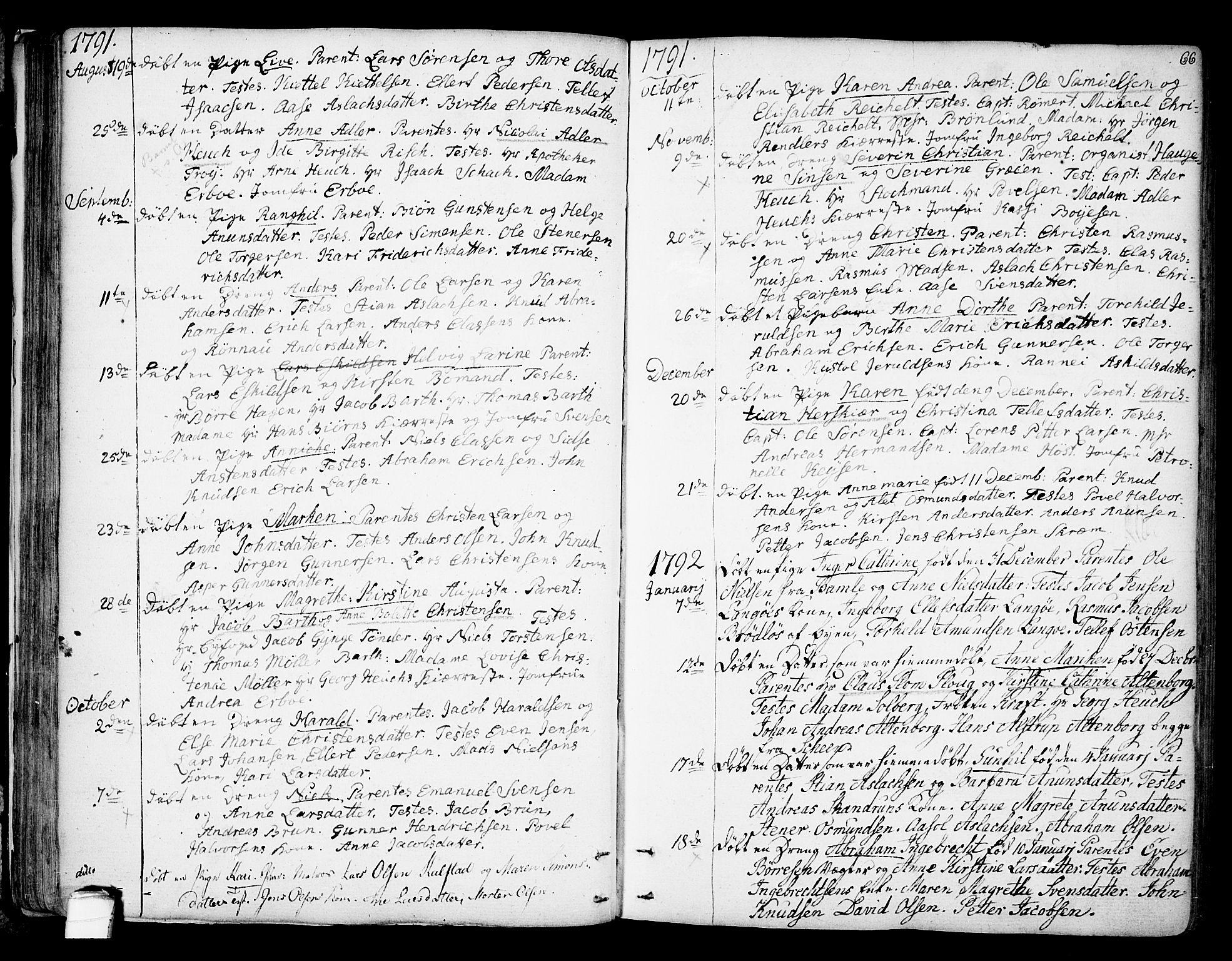 SAKO, Kragerø kirkebøker, F/Fa/L0002: Ministerialbok nr. 2, 1767-1802, s. 66