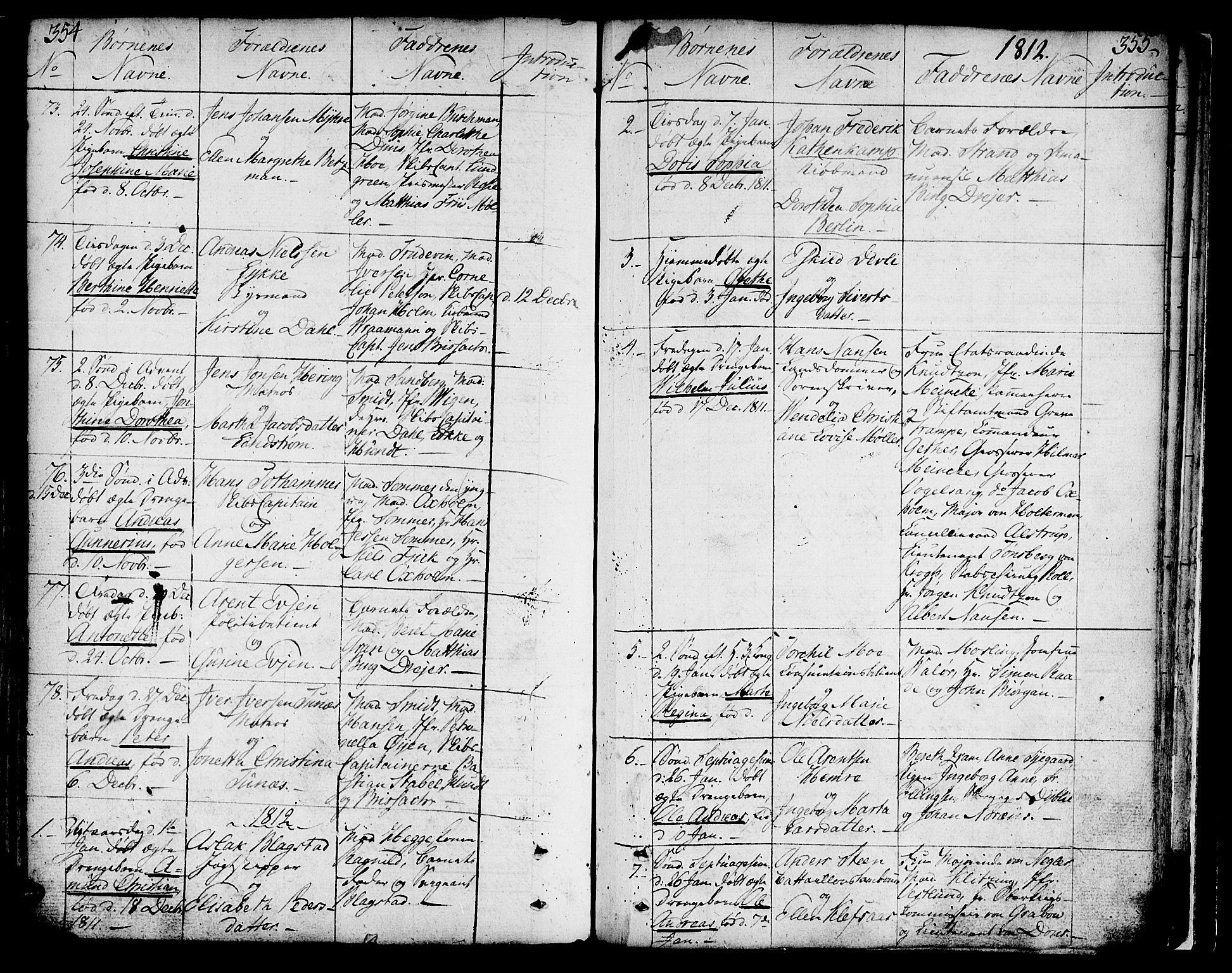 SAT, Ministerialprotokoller, klokkerbøker og fødselsregistre - Sør-Trøndelag, 602/L0104: Ministerialbok nr. 602A02, 1774-1814, s. 354-355