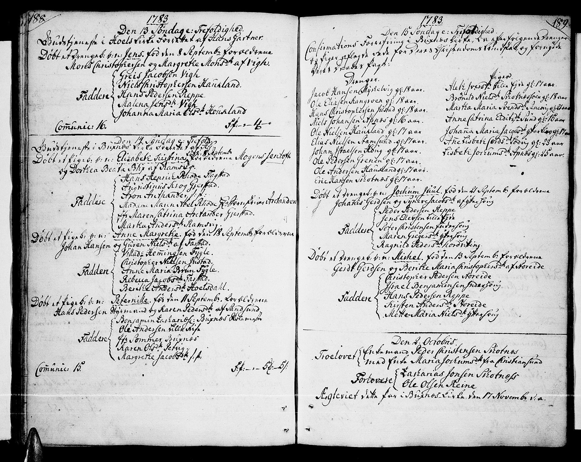 SAT, Ministerialprotokoller, klokkerbøker og fødselsregistre - Nordland, 881/L1149: Ministerialbok nr. 881A02, 1773-1793, s. 188-189