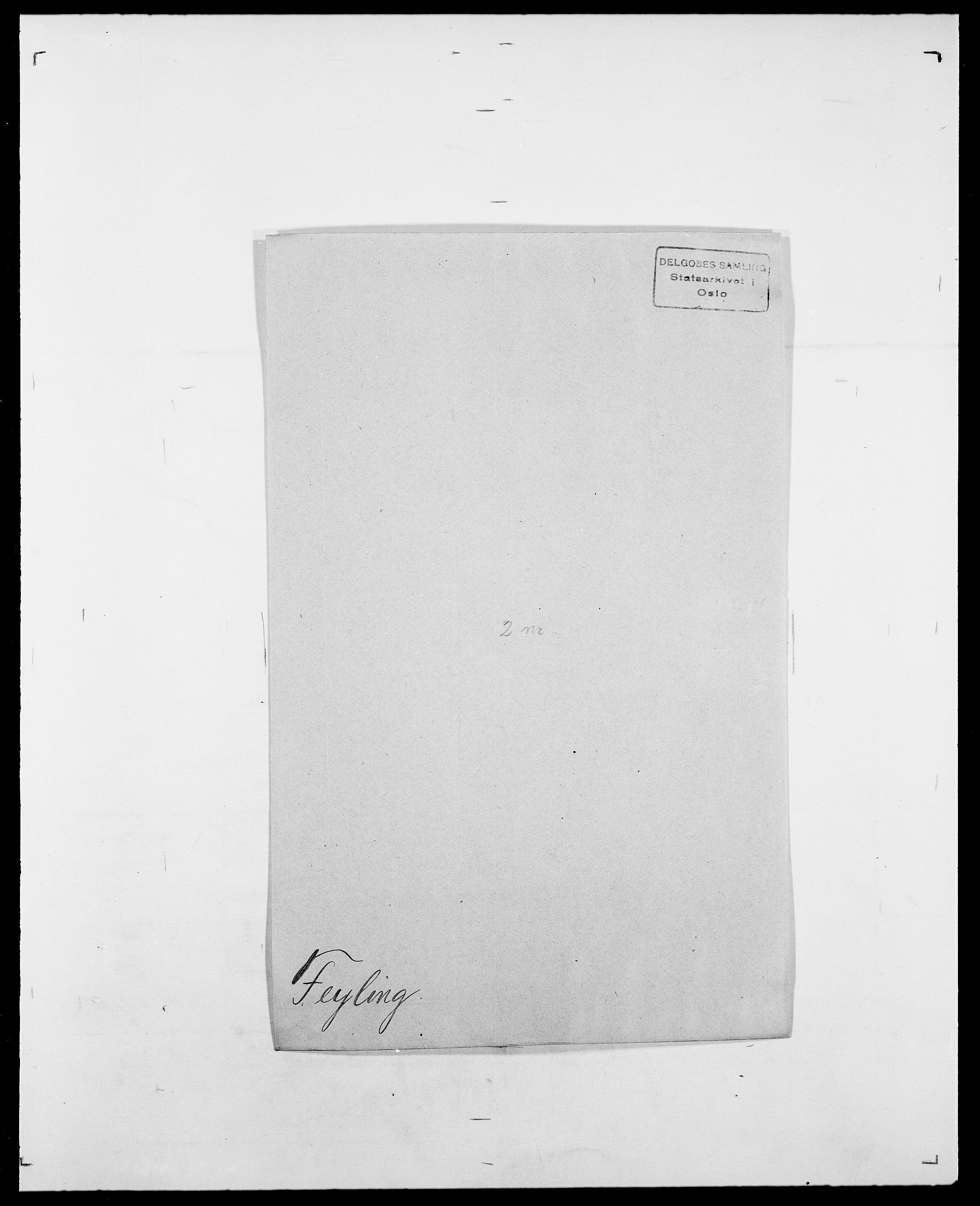SAO, Delgobe, Charles Antoine - samling, D/Da/L0011: Fahlander - Flood, Flod, s. 407