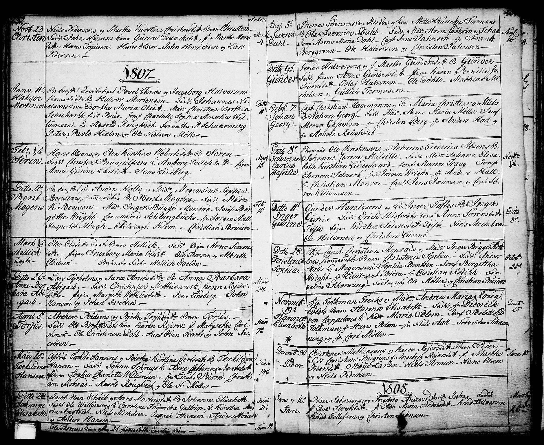 SAKO, Porsgrunn kirkebøker , F/Fa/L0001: Ministerialbok nr. 1, 1764-1814, s. 232-233