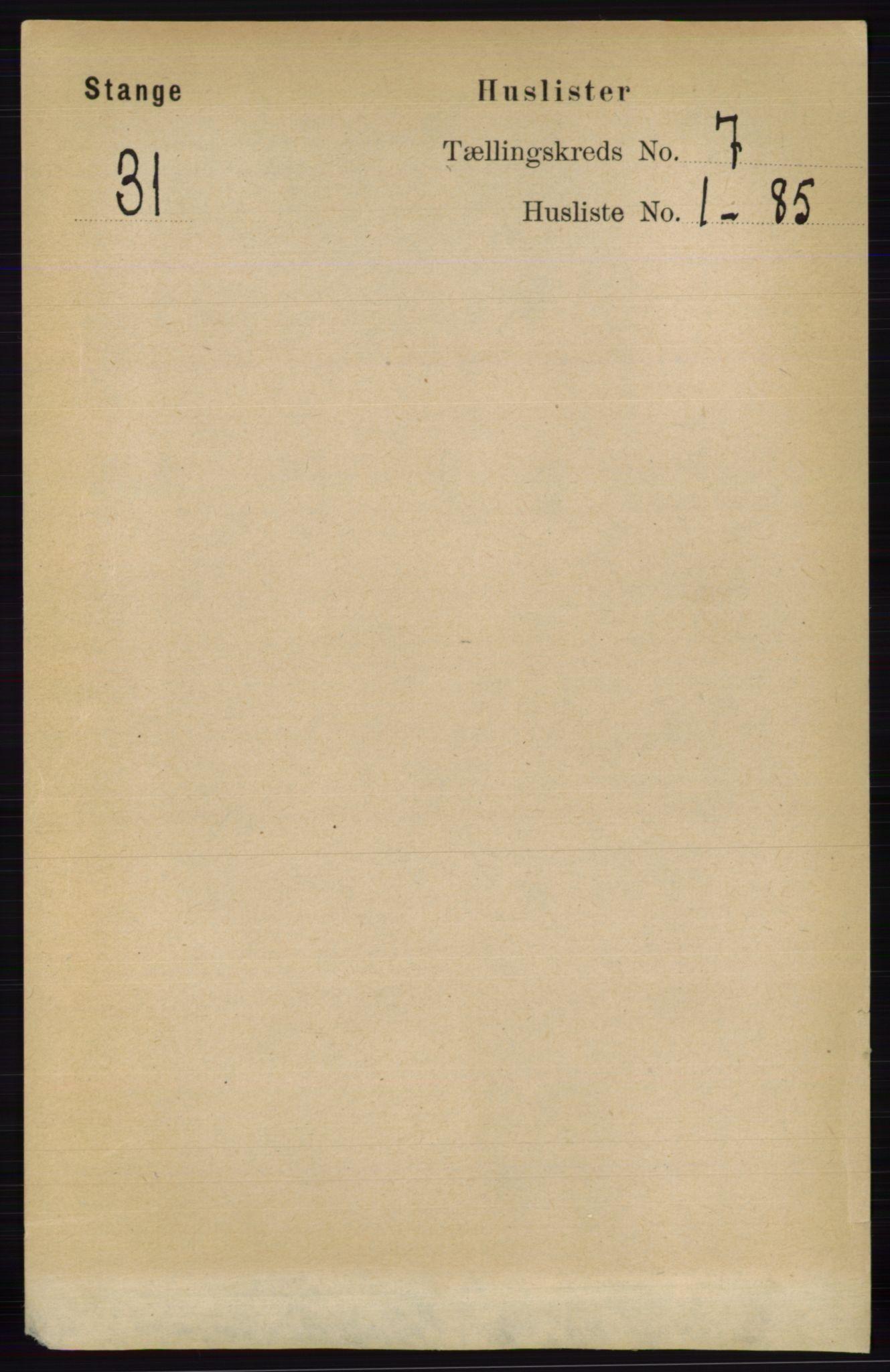 RA, Folketelling 1891 for 0417 Stange herred, 1891, s. 4676