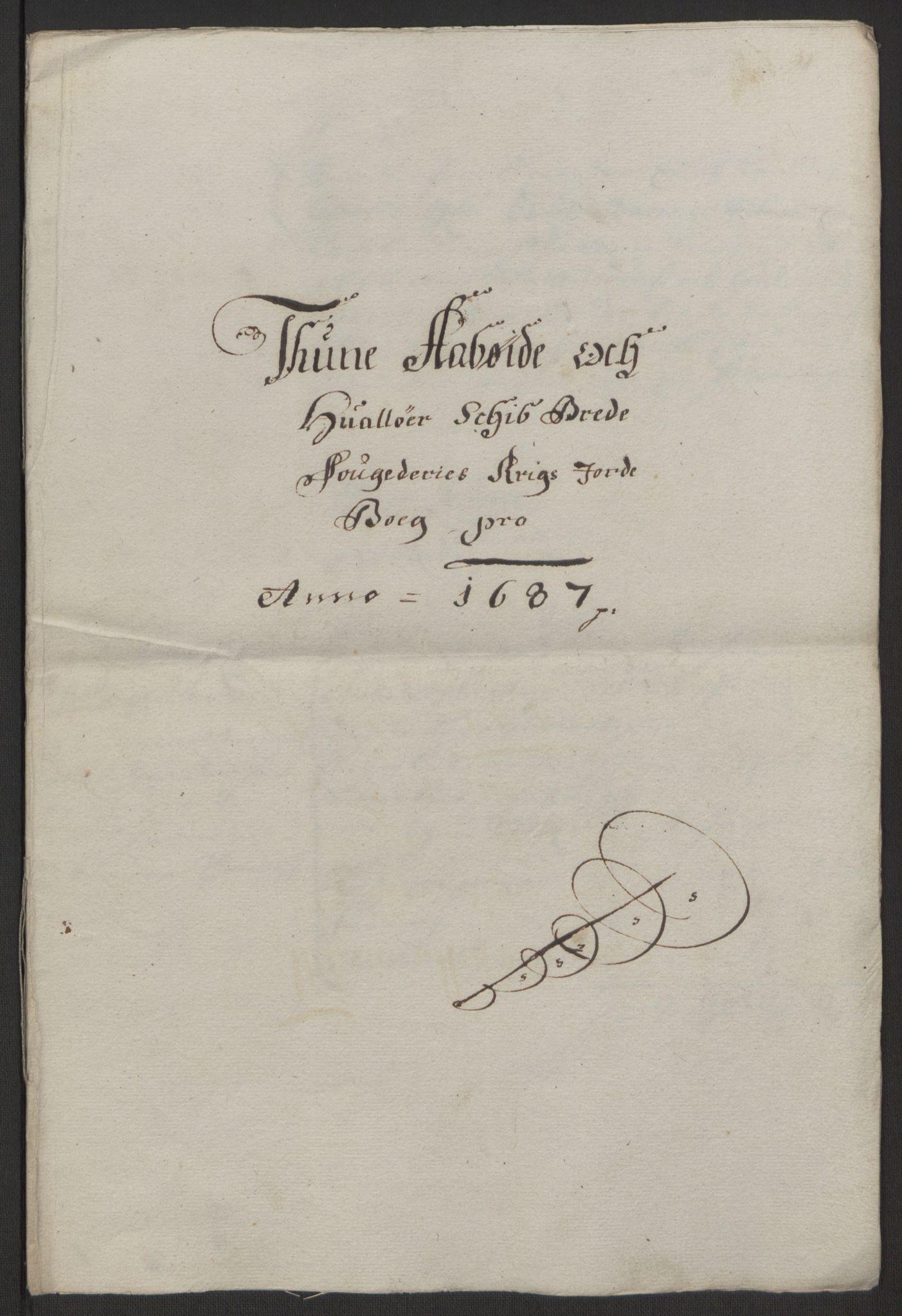 RA, Rentekammeret inntil 1814, Reviderte regnskaper, Fogderegnskap, R03/L0118: Fogderegnskap Onsøy, Tune, Veme og Åbygge fogderi, 1684-1689, s. 232