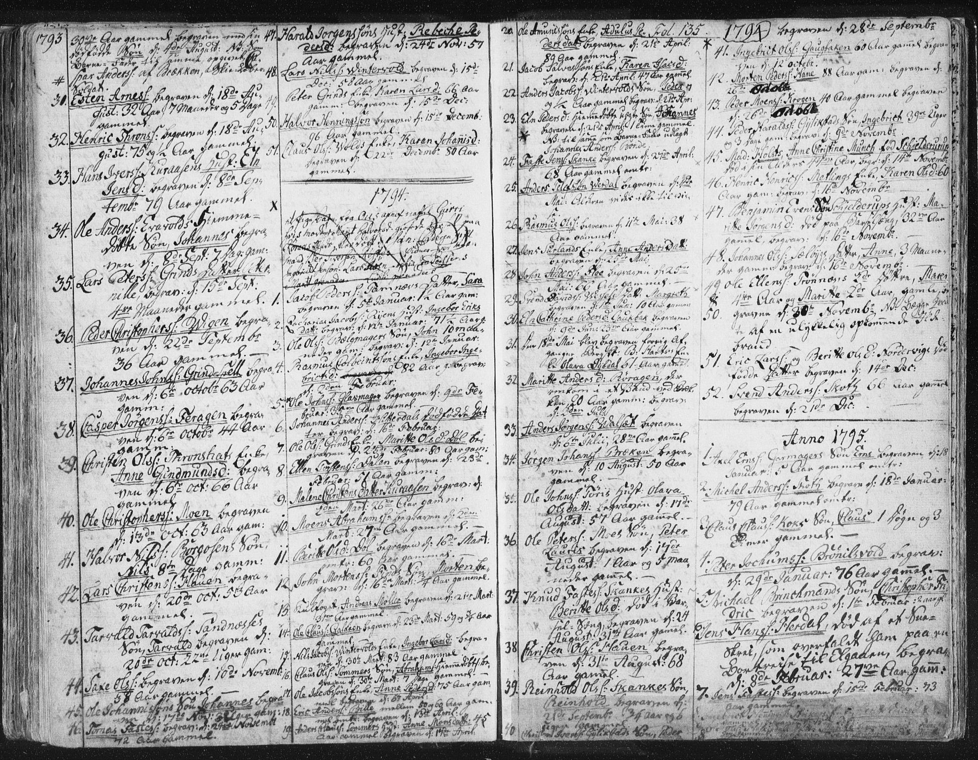 SAT, Ministerialprotokoller, klokkerbøker og fødselsregistre - Sør-Trøndelag, 681/L0926: Ministerialbok nr. 681A04, 1767-1797, s. 135