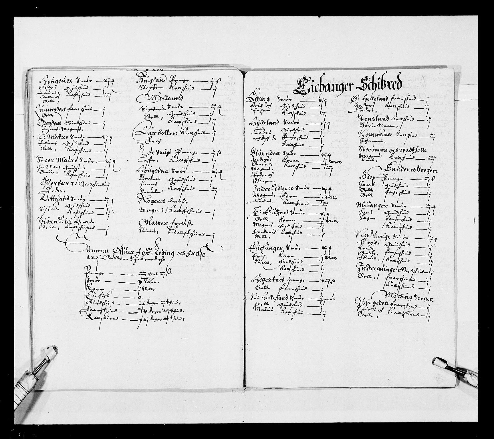 RA, Stattholderembetet 1572-1771, Ek/L0025: Jordebøker 1633-1658:, 1645-1646, s. 97