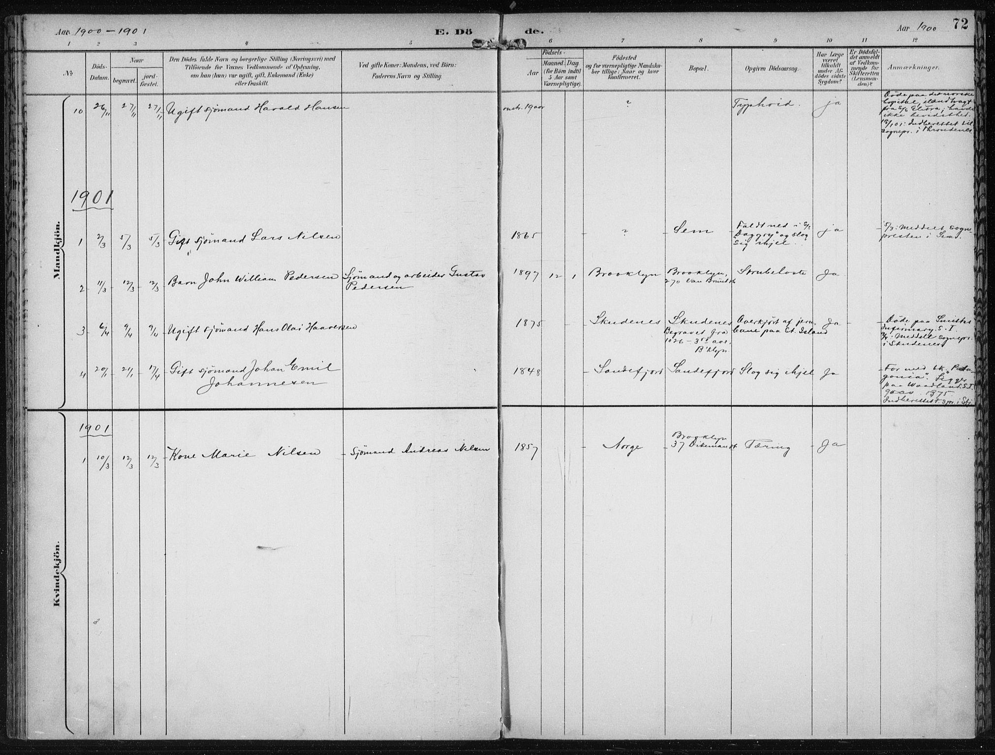 SAB, Den Norske Sjømannsmisjon i utlandet*, Ministerialbok nr. A 4, 1893-1901, s. 72