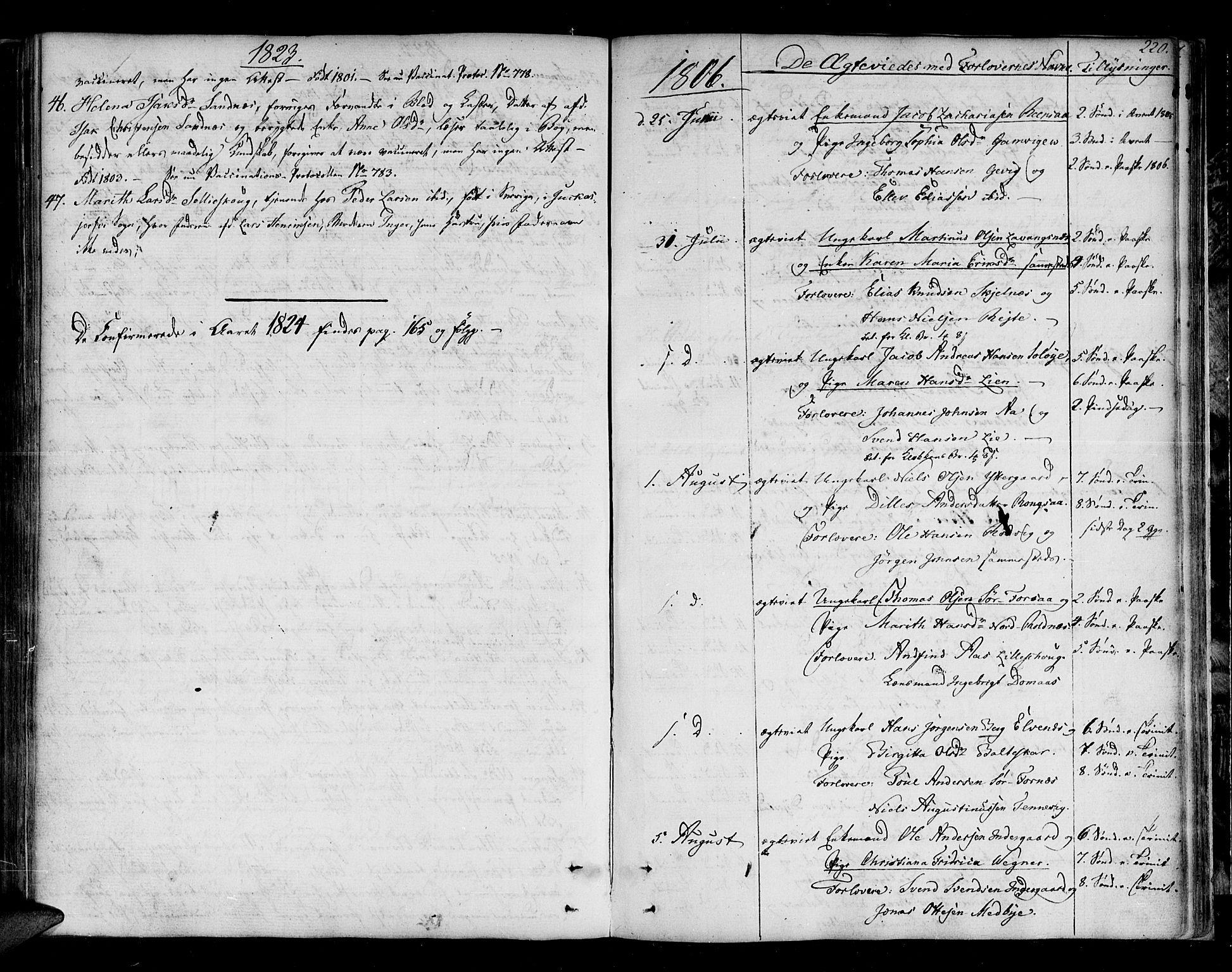 SATØ, Ibestad sokneprestembete, Ministerialbok nr. 4, 1801-1824, s. 220