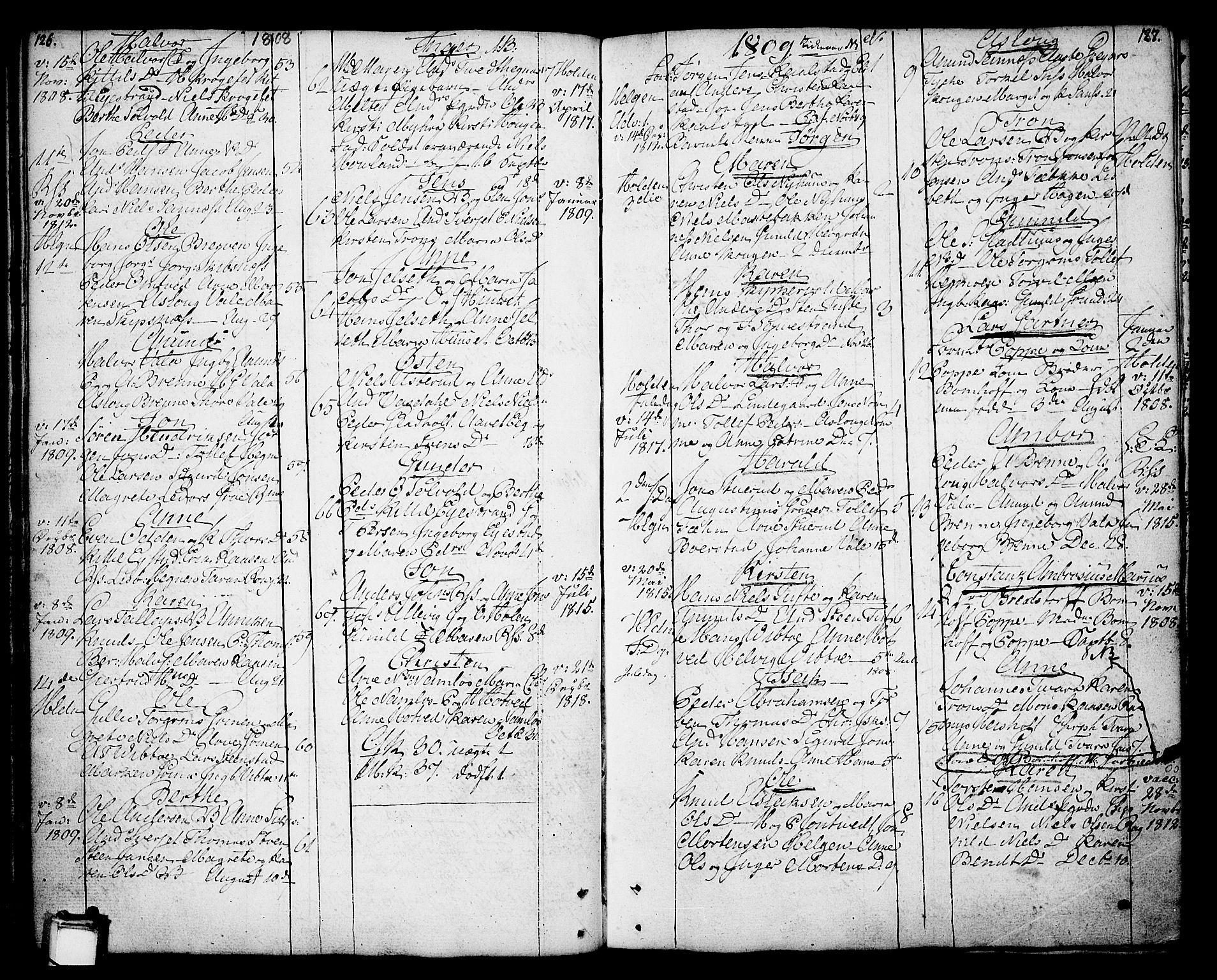 SAKO, Holla kirkebøker, F/Fa/L0002: Ministerialbok nr. 2, 1779-1814, s. 126-127