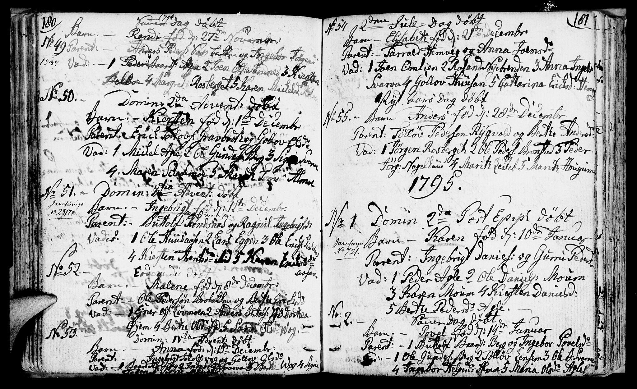 SAT, Ministerialprotokoller, klokkerbøker og fødselsregistre - Nord-Trøndelag, 749/L0468: Ministerialbok nr. 749A02, 1787-1817, s. 180-181