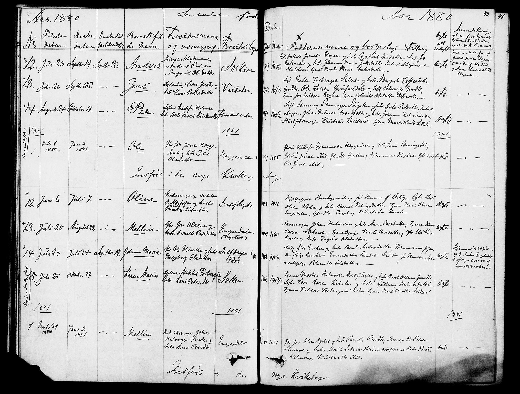SAH, Rendalen prestekontor, H/Ha/Hab/L0002: Klokkerbok nr. 2, 1858-1880, s. 43