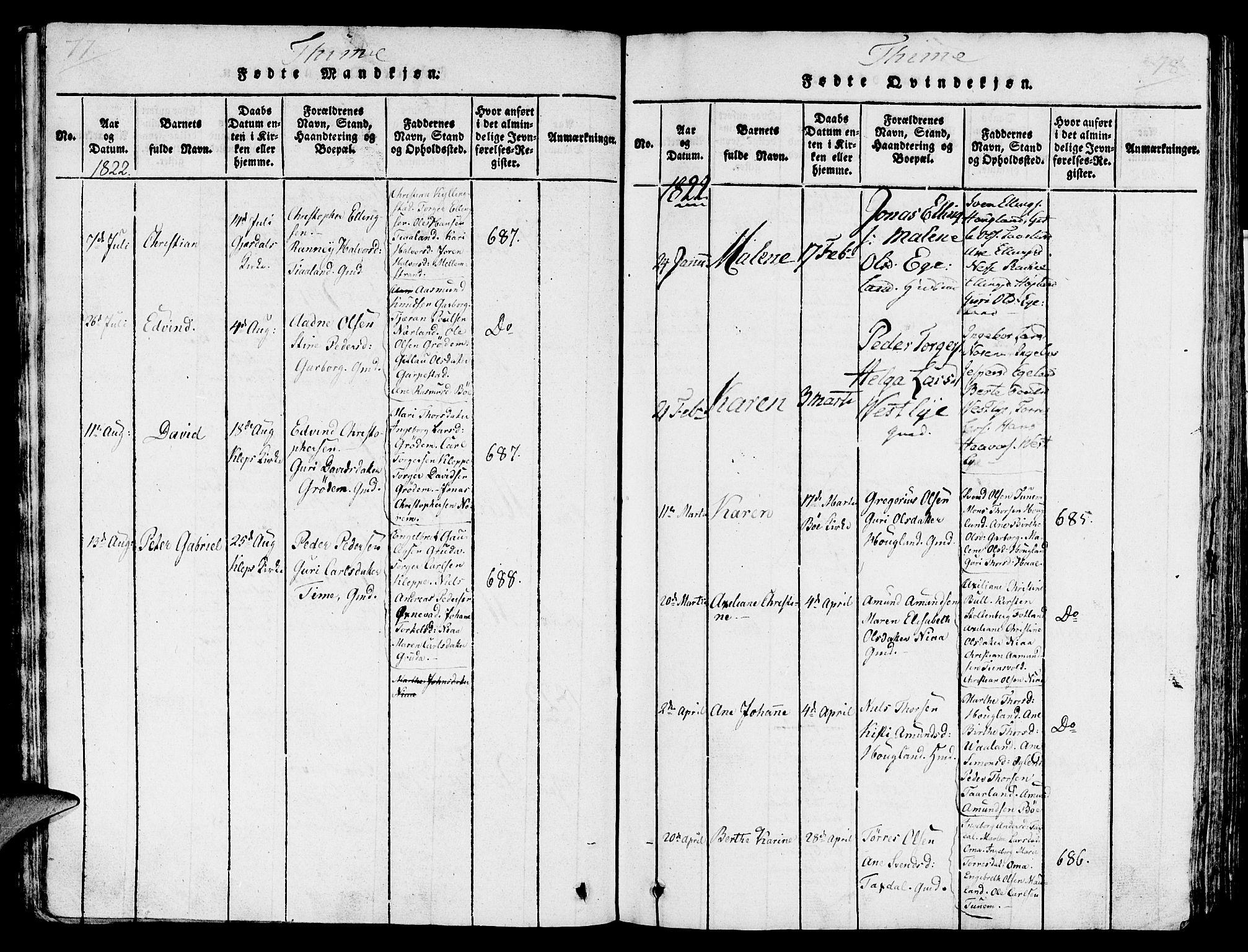 SAST, Lye sokneprestkontor, 30BA/L0003: Ministerialbok nr. A 3 /1, 1816-1826, s. 77-78