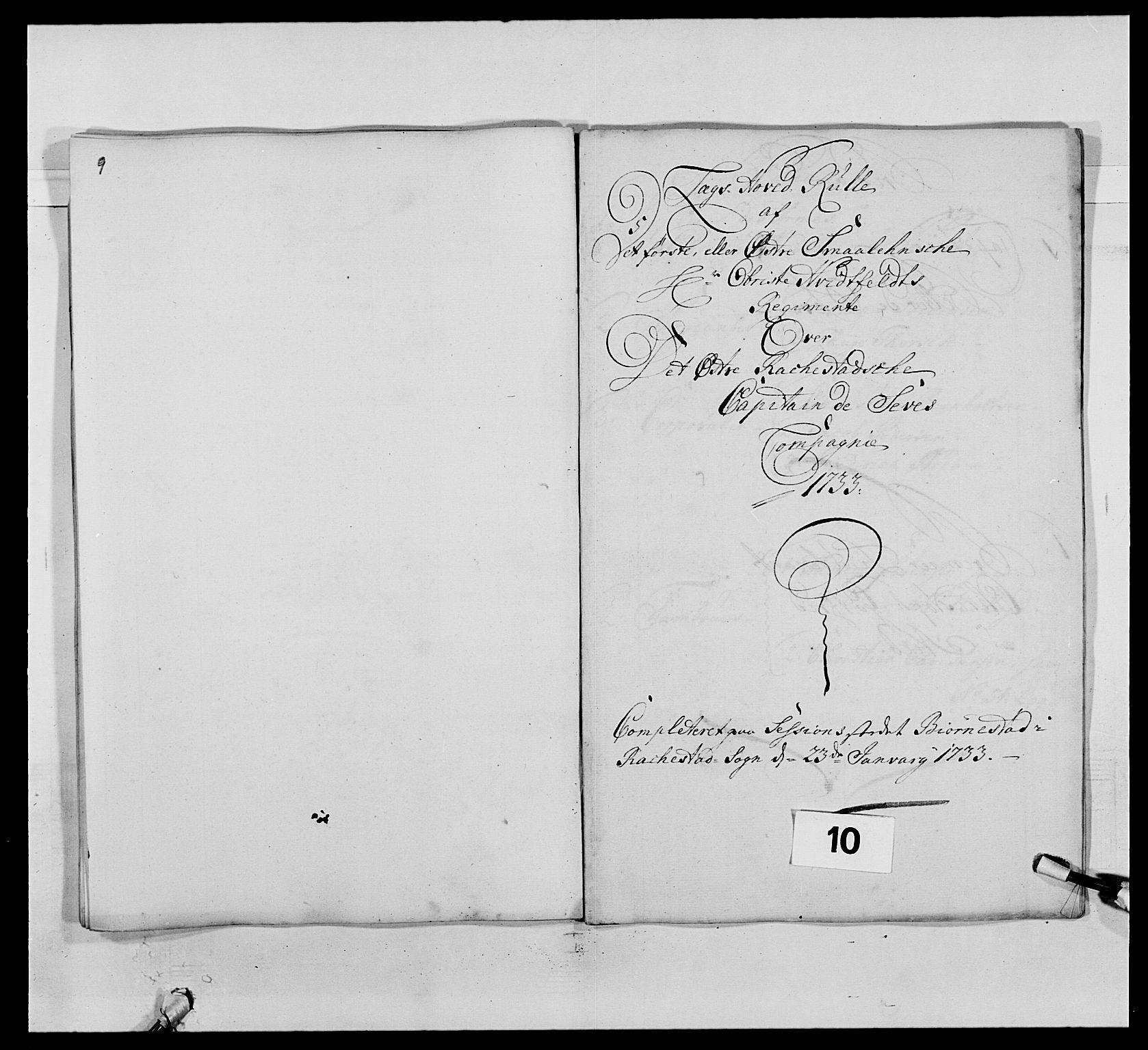 RA, Kommanderende general (KG I) med Det norske krigsdirektorium, E/Ea/L0495: 1. Smålenske regiment, 1732-1763, s. 106