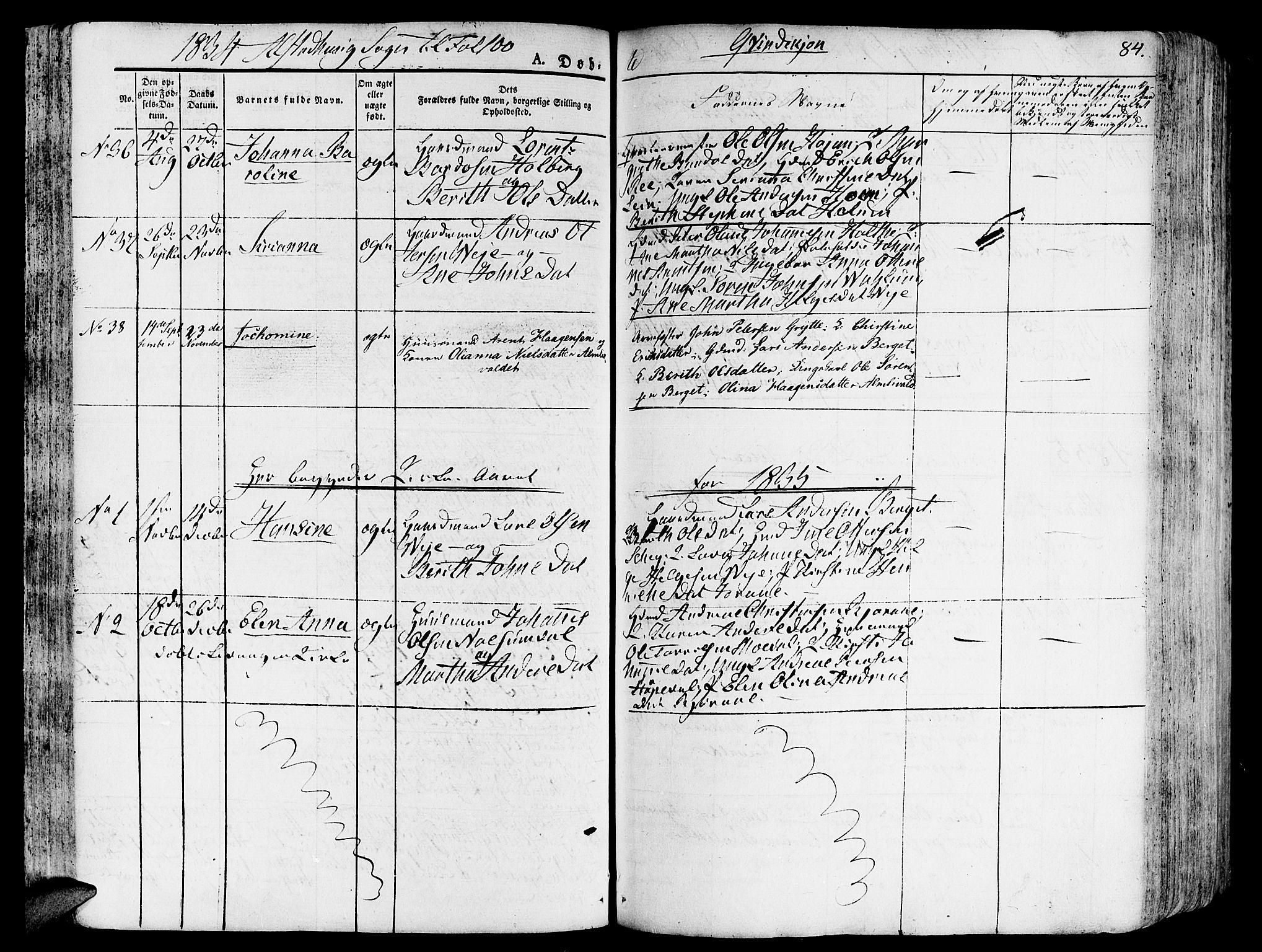 SAT, Ministerialprotokoller, klokkerbøker og fødselsregistre - Nord-Trøndelag, 717/L0152: Ministerialbok nr. 717A05 /1, 1825-1836, s. 84