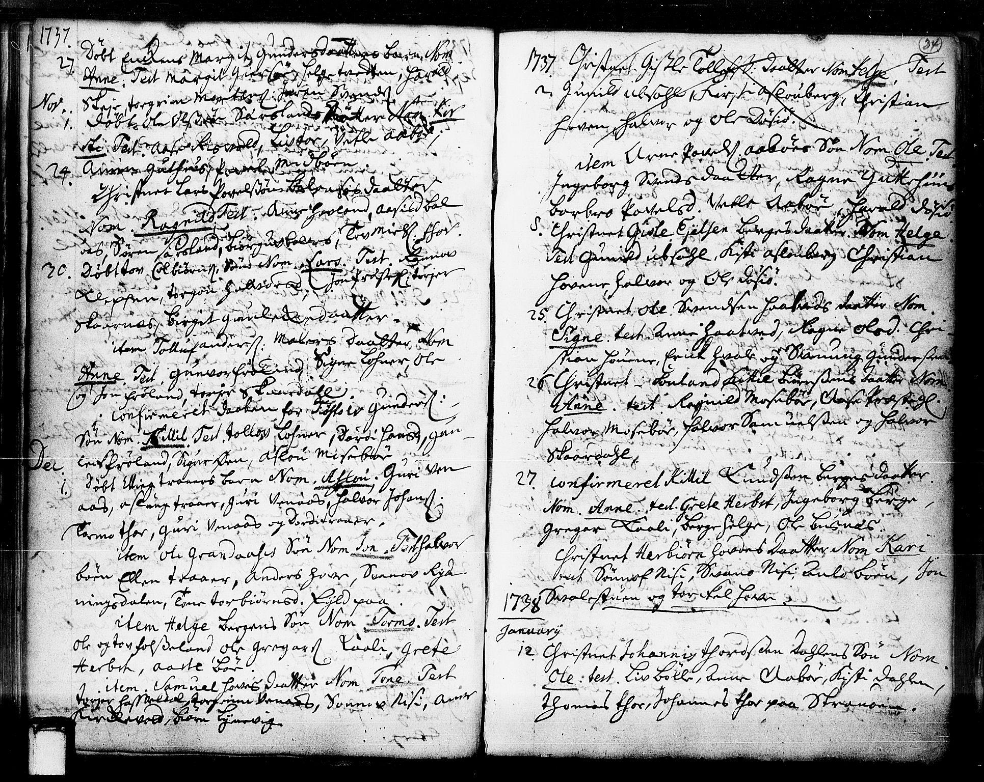 SAKO, Hjartdal kirkebøker, F/Fa/L0003: Ministerialbok nr. I 3, 1727-1775, s. 34