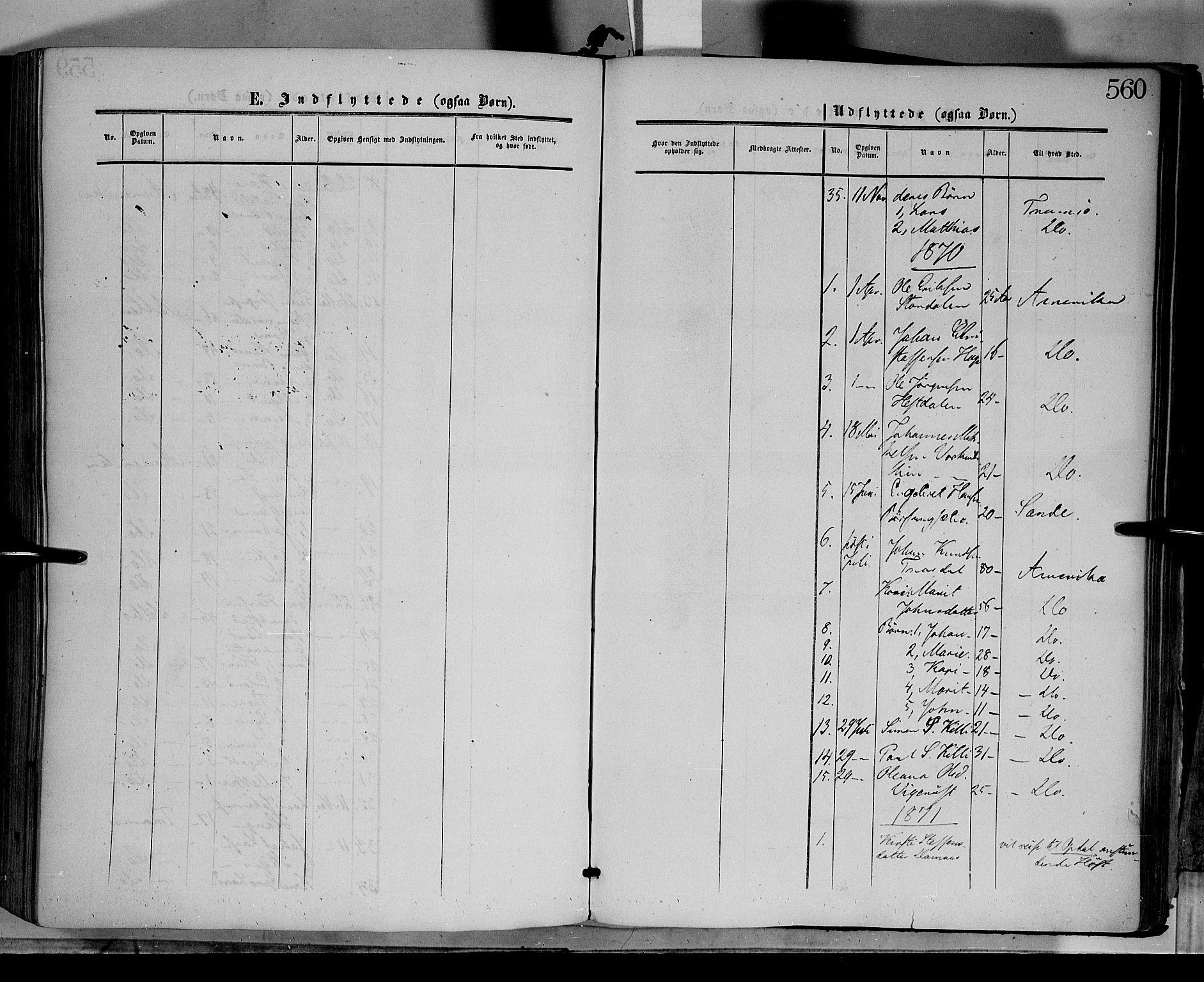 SAH, Dovre prestekontor, Ministerialbok nr. 1, 1854-1878, s. 560