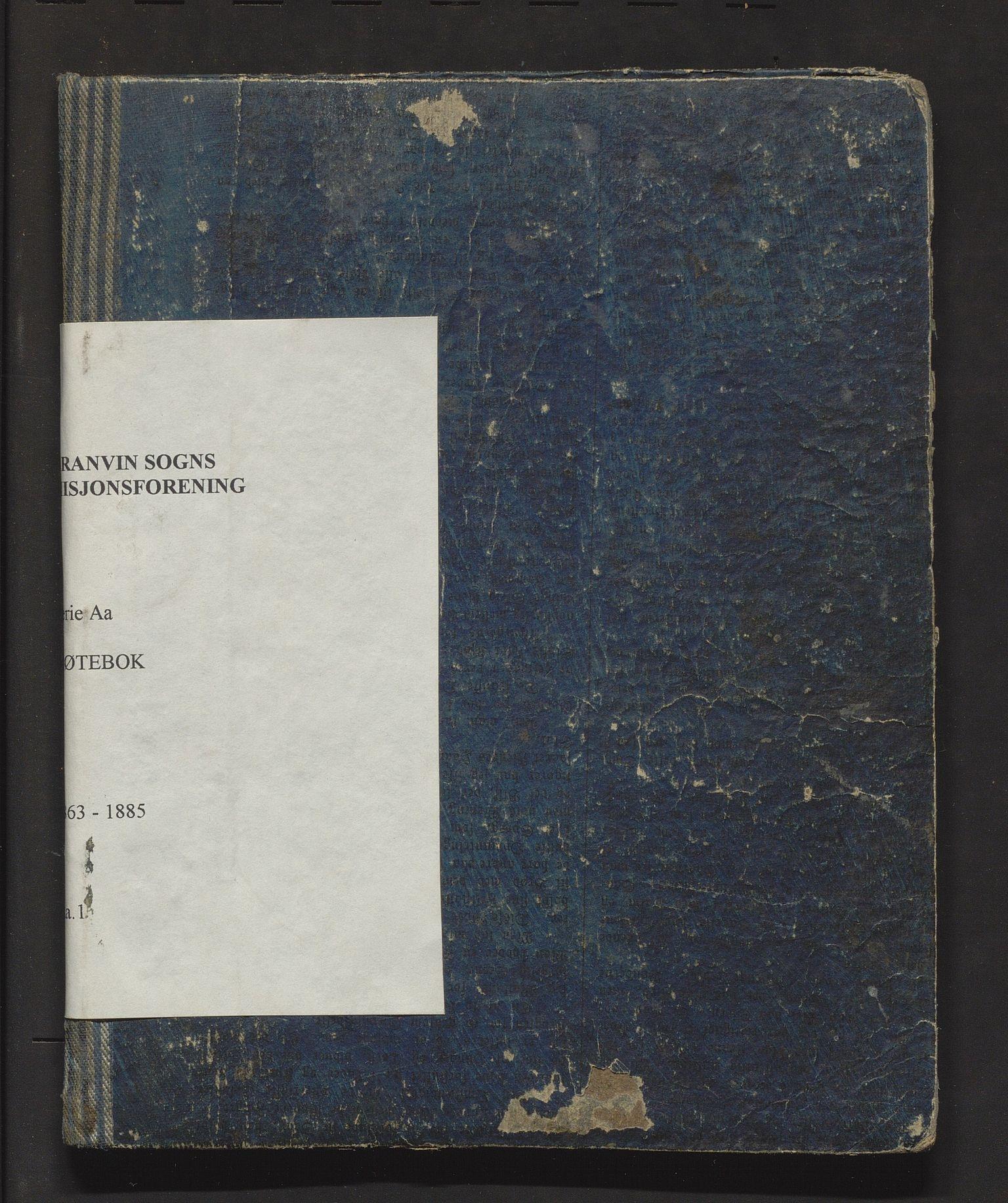 IKAH, Granvin sogns misjonsforening, A/Aa/L0001: Møtebok for Granvin sogns misjonsforening, 1863-1885