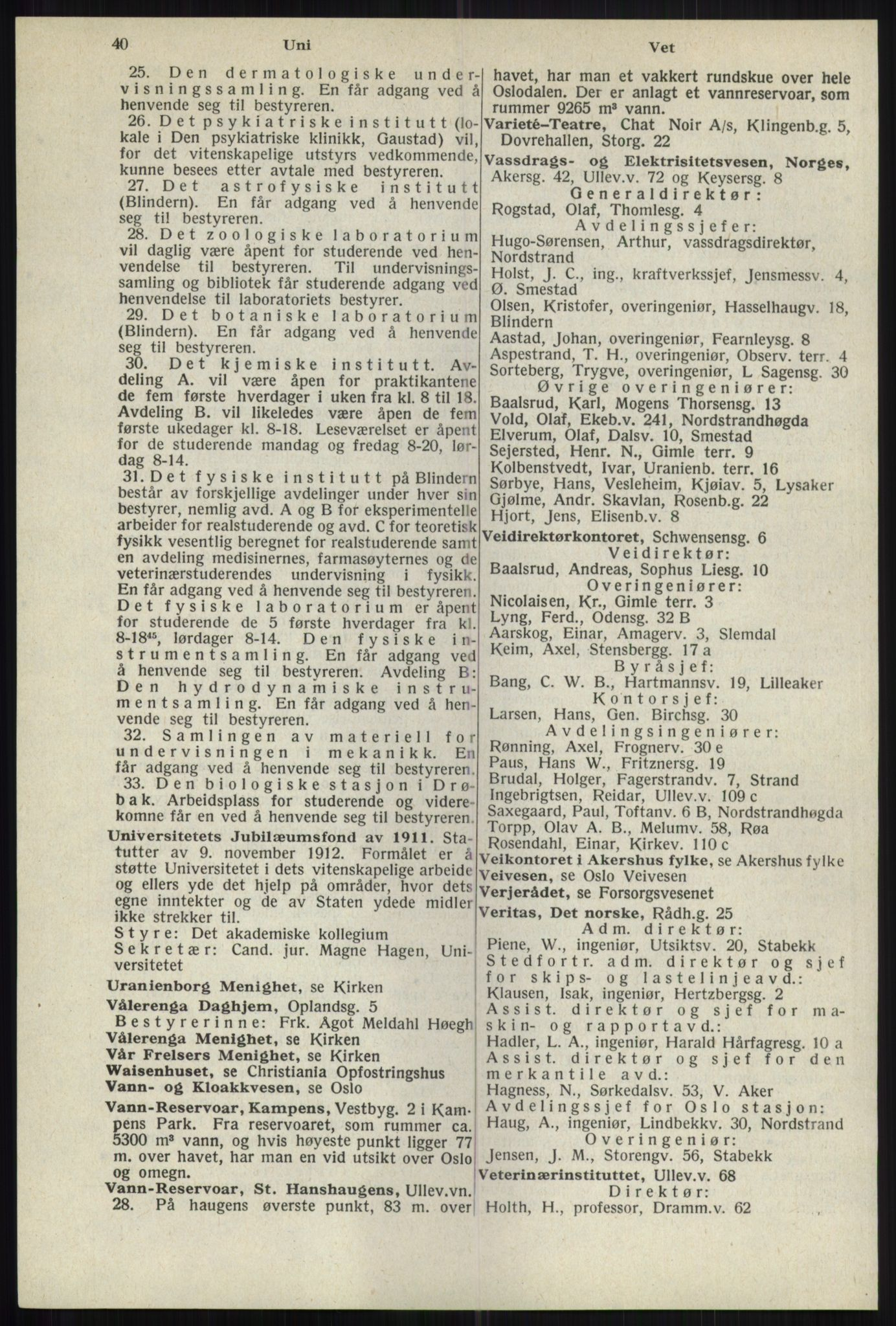 RA, Oslo adressebok (publikasjon)*, 1941, s. 40