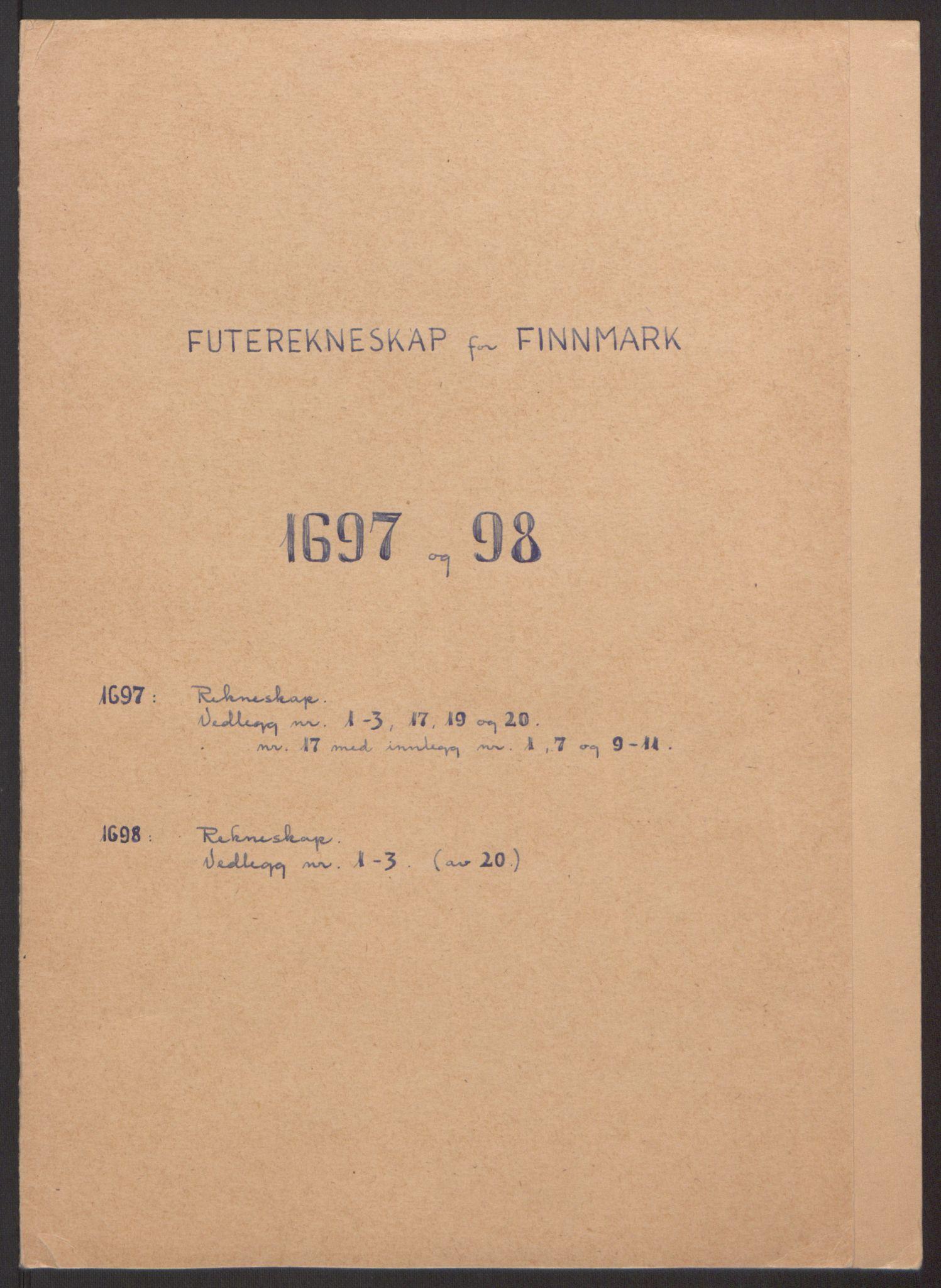 RA, Rentekammeret inntil 1814, Reviderte regnskaper, Fogderegnskap, R69/L4851: Fogderegnskap Finnmark/Vardøhus, 1691-1700, s. 293