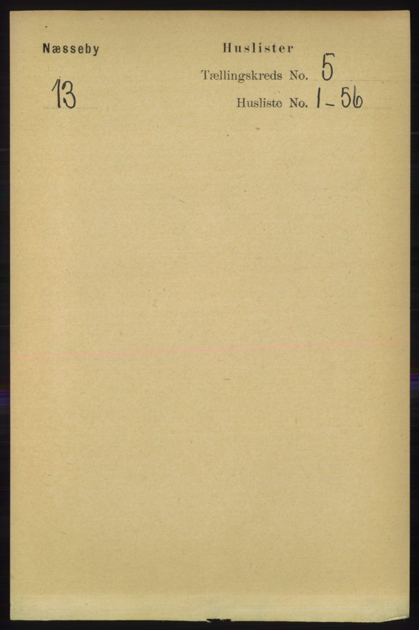 RA, Folketelling 1891 for 2027 Nesseby herred, 1891, s. 1396