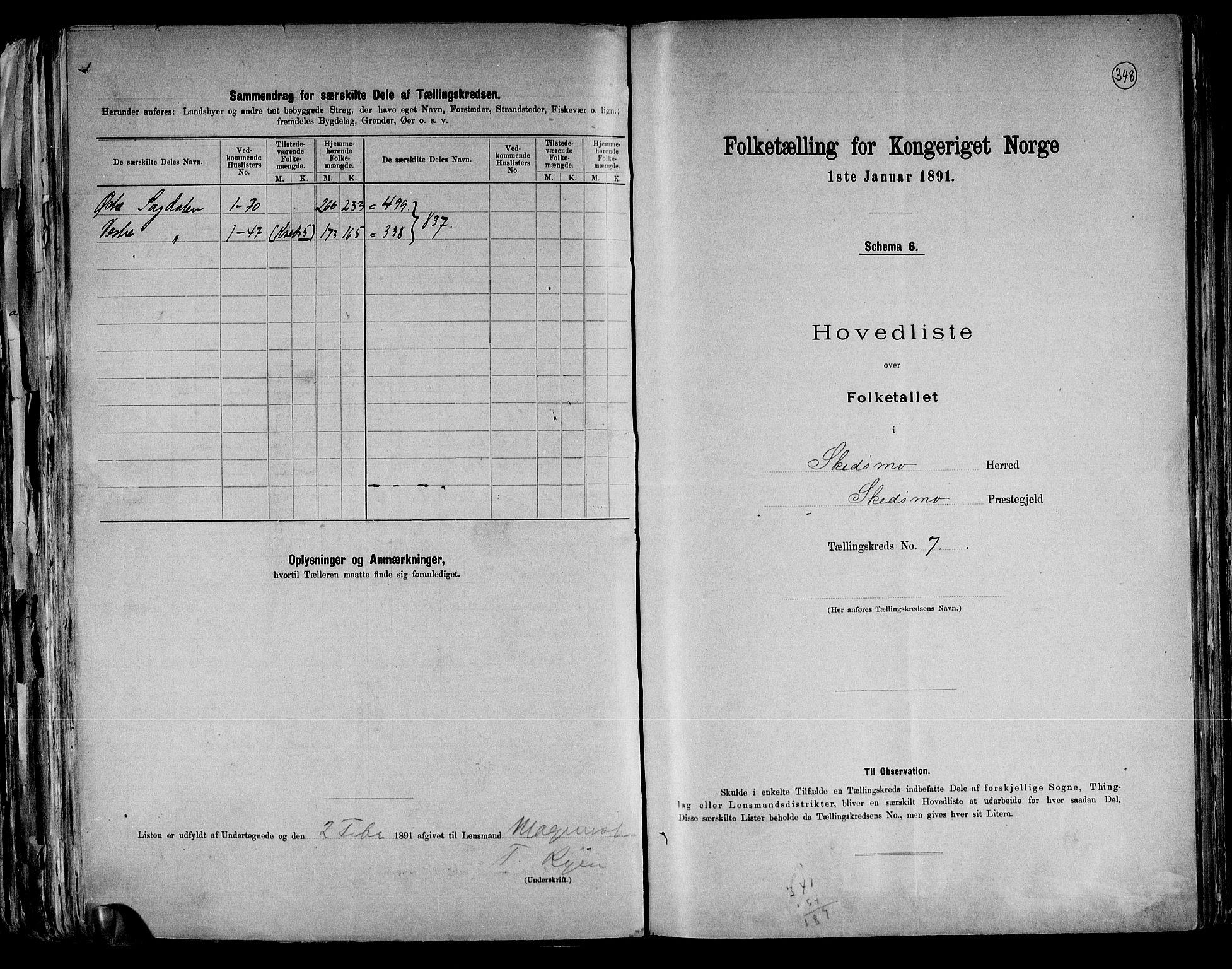 RA, Folketelling 1891 for 0231 Skedsmo herred, 1891, s. 16