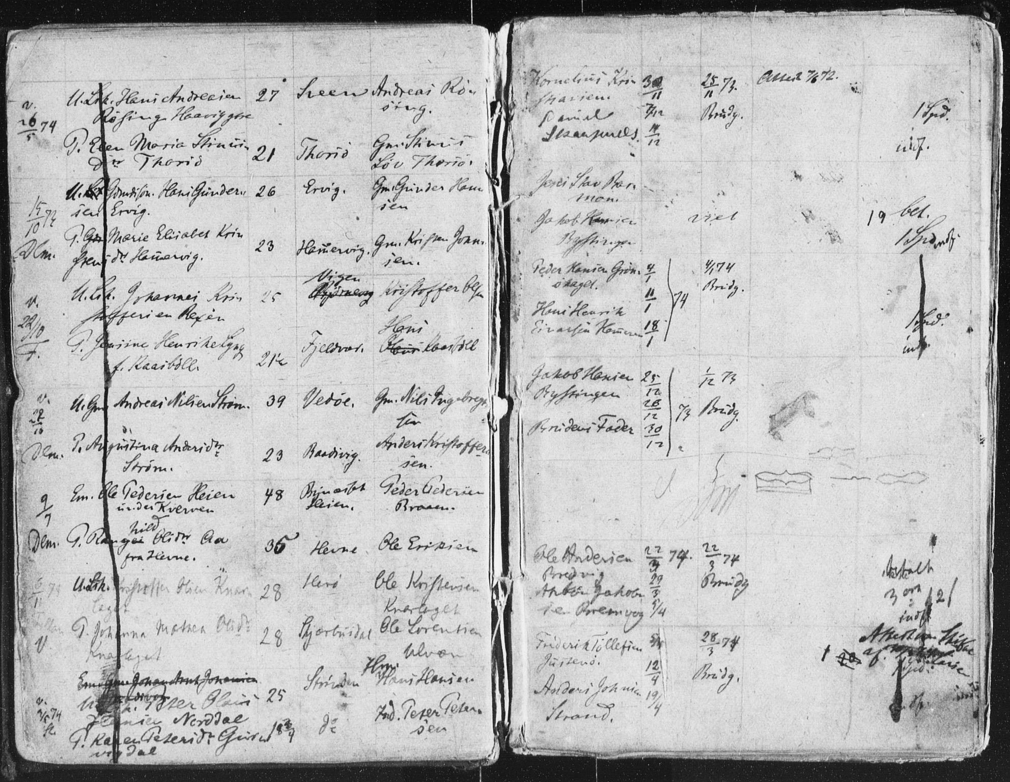 SAT, Arkivreferanse ukjent**, Lysningsprotokoll nr. 640.I.1f.1, 1871-1880