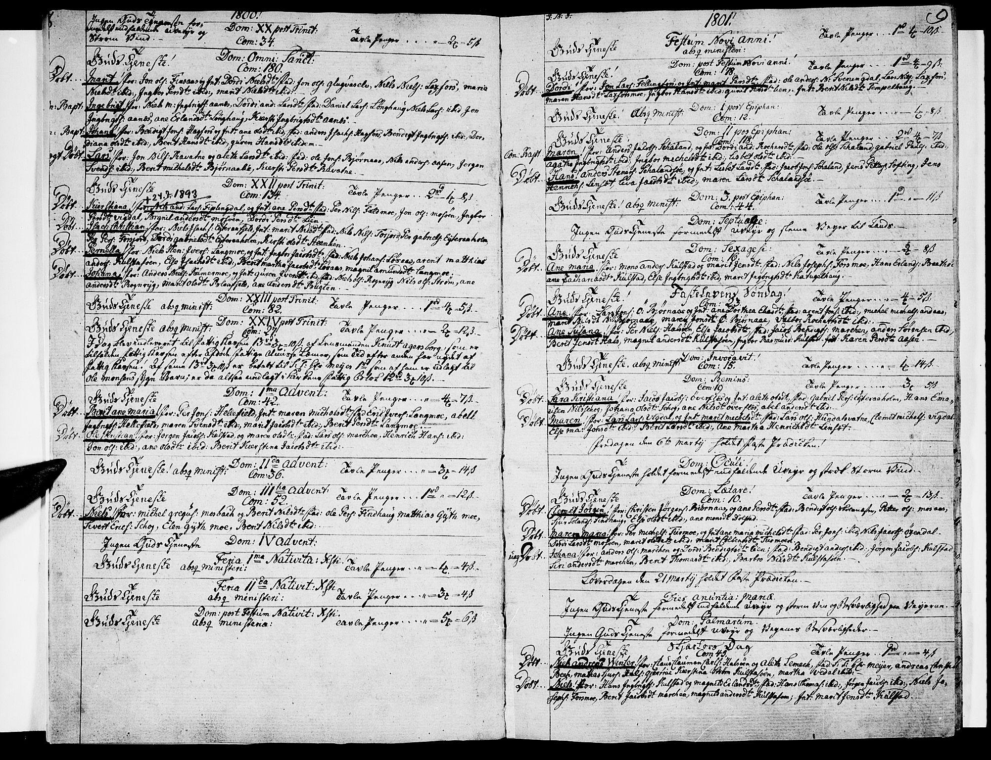 SAT, Ministerialprotokoller, klokkerbøker og fødselsregistre - Nordland, 820/L0287: Ministerialbok nr. 820A08, 1800-1819, s. 8-9