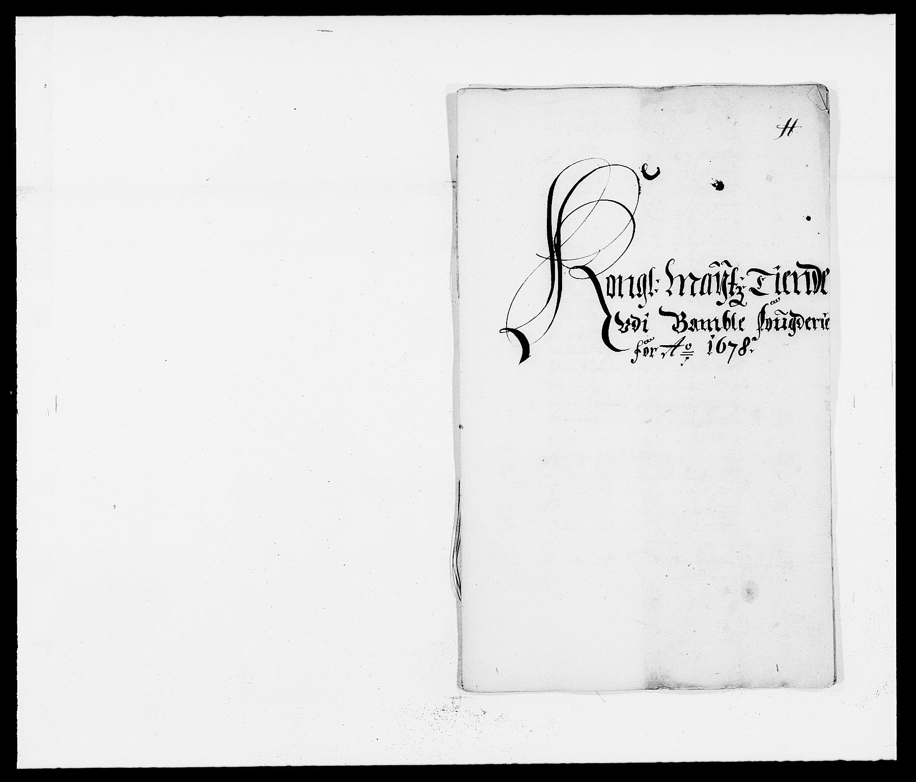 RA, Rentekammeret inntil 1814, Reviderte regnskaper, Fogderegnskap, R34/L2044: Fogderegnskap Bamble, 1678-1679, s. 209