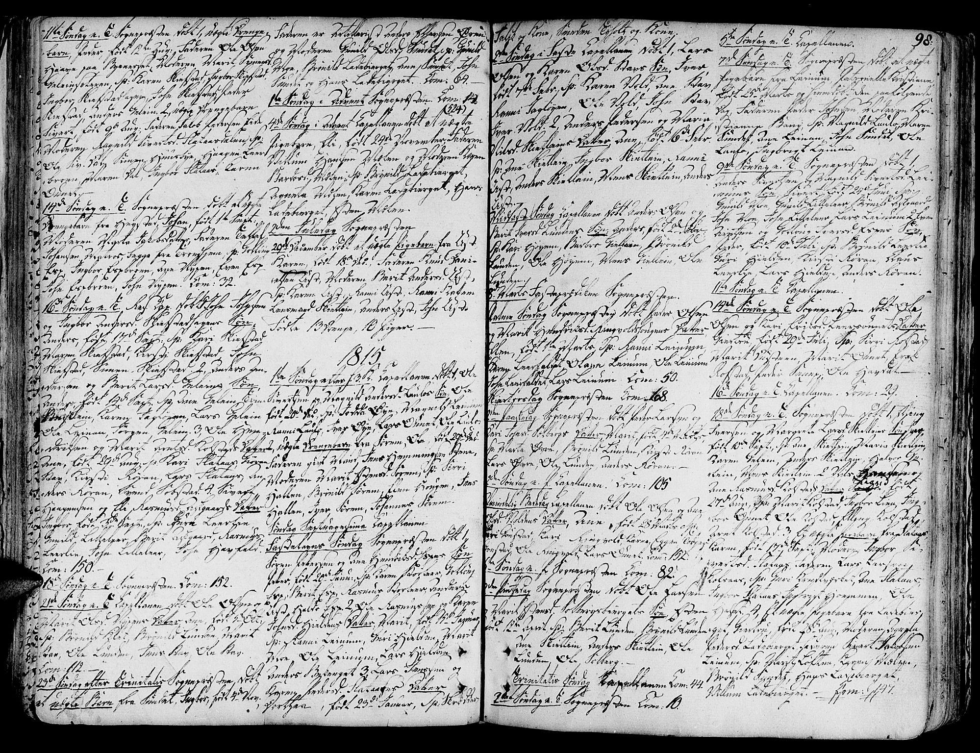 SAT, Ministerialprotokoller, klokkerbøker og fødselsregistre - Sør-Trøndelag, 691/L1063: Ministerialbok nr. 691A02 /3, 1768-1815, s. 98