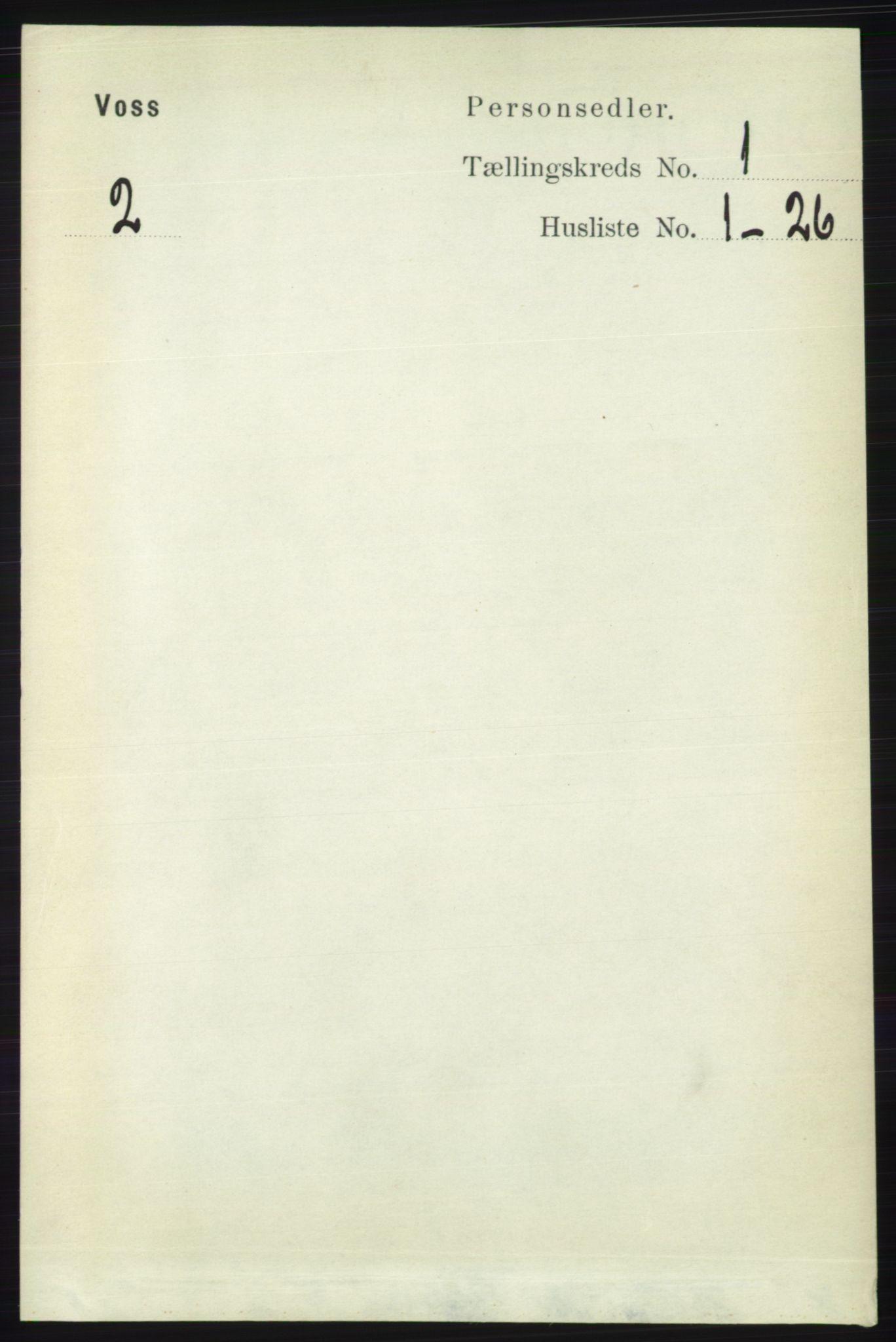 RA, Folketelling 1891 for 1235 Voss herred, 1891, s. 103